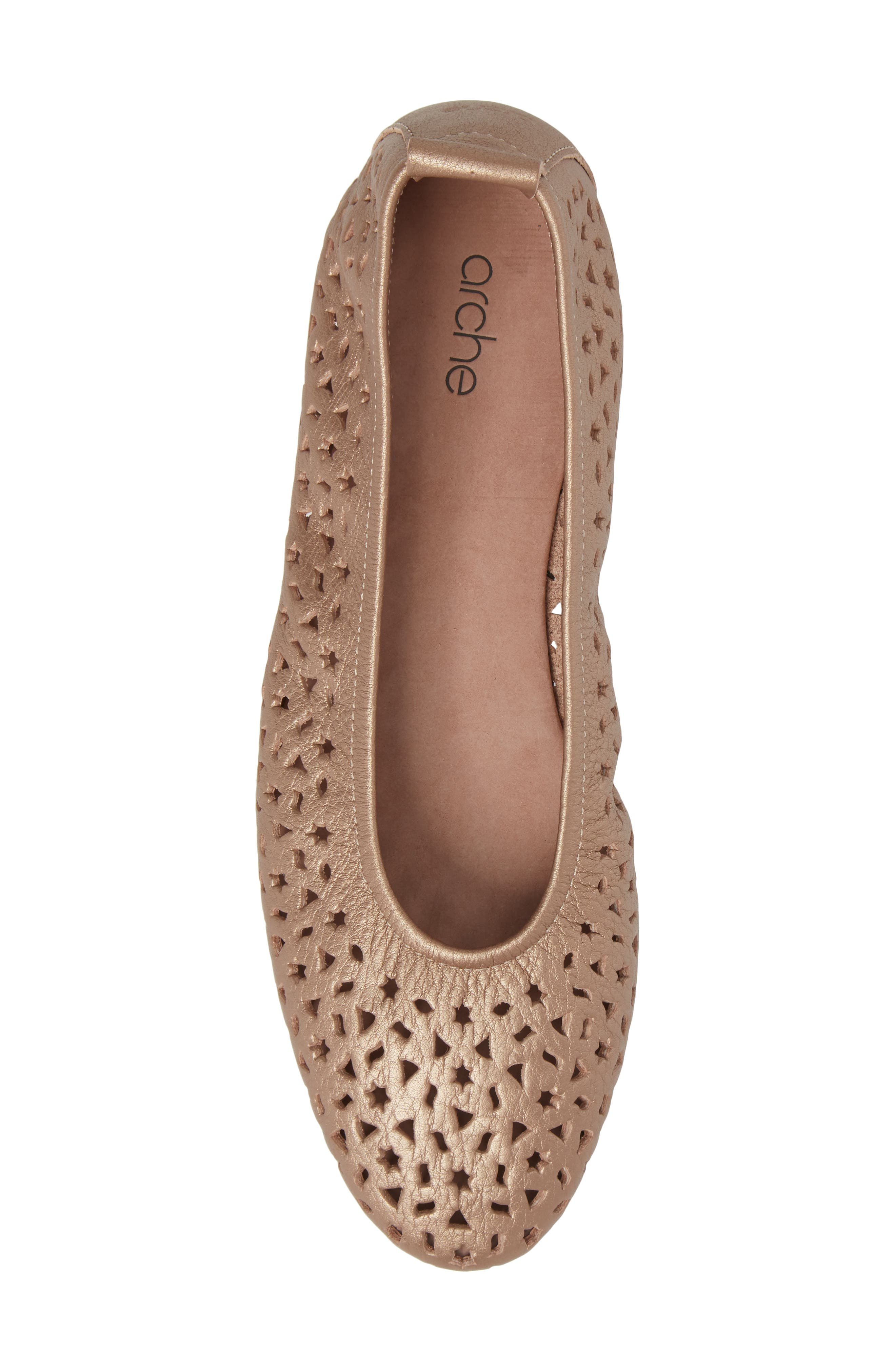 'Lilly' Flat,                             Alternate thumbnail 5, color,                             ANTICO/ BLUSH LEATHER