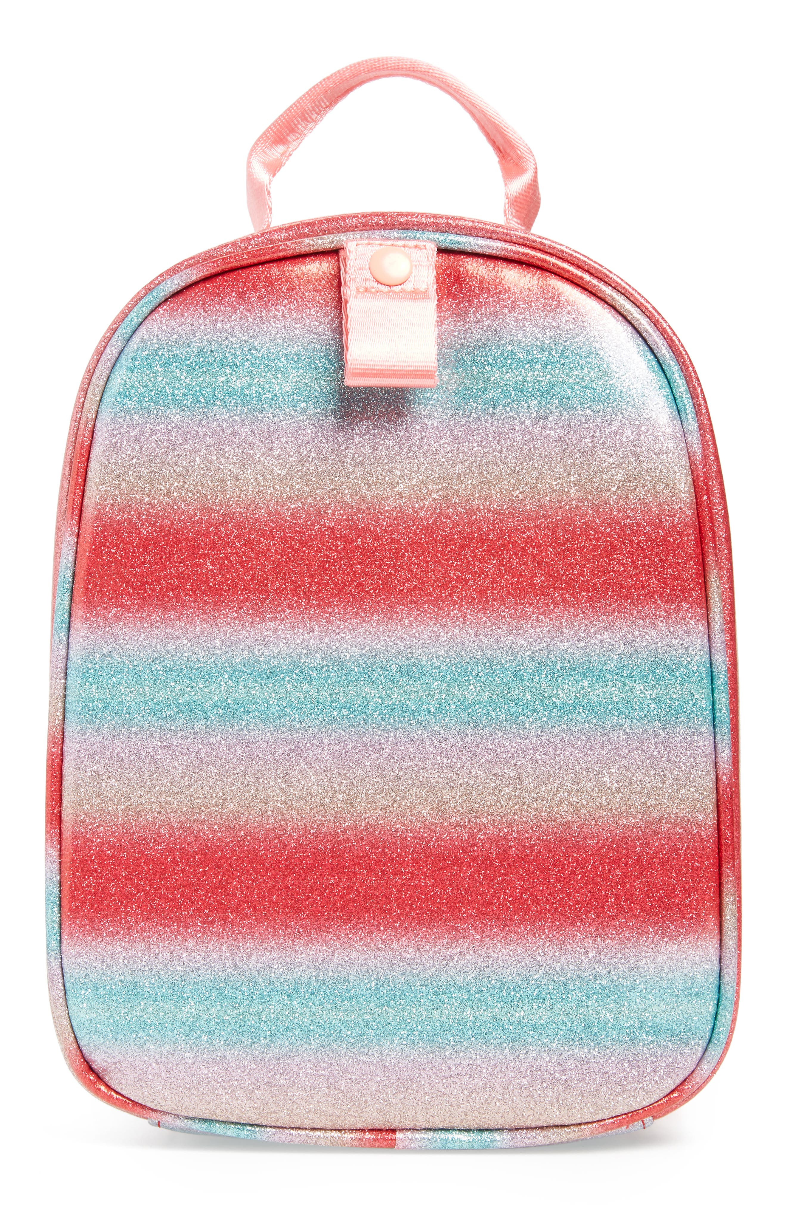 Glitter Stripe Lunch Box,                             Alternate thumbnail 2, color,                             RAINBOW