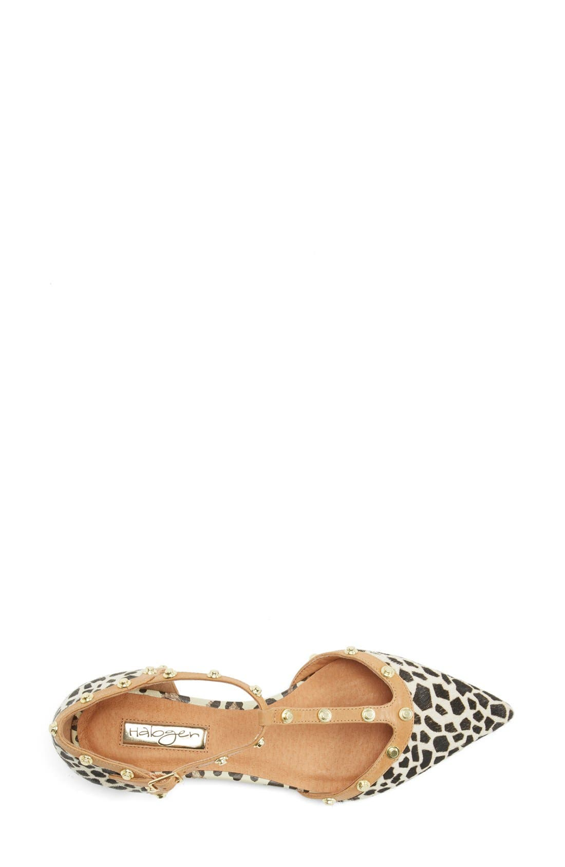 'Olson' Pointy Toe Studded T-Strap Flat,                             Alternate thumbnail 25, color,