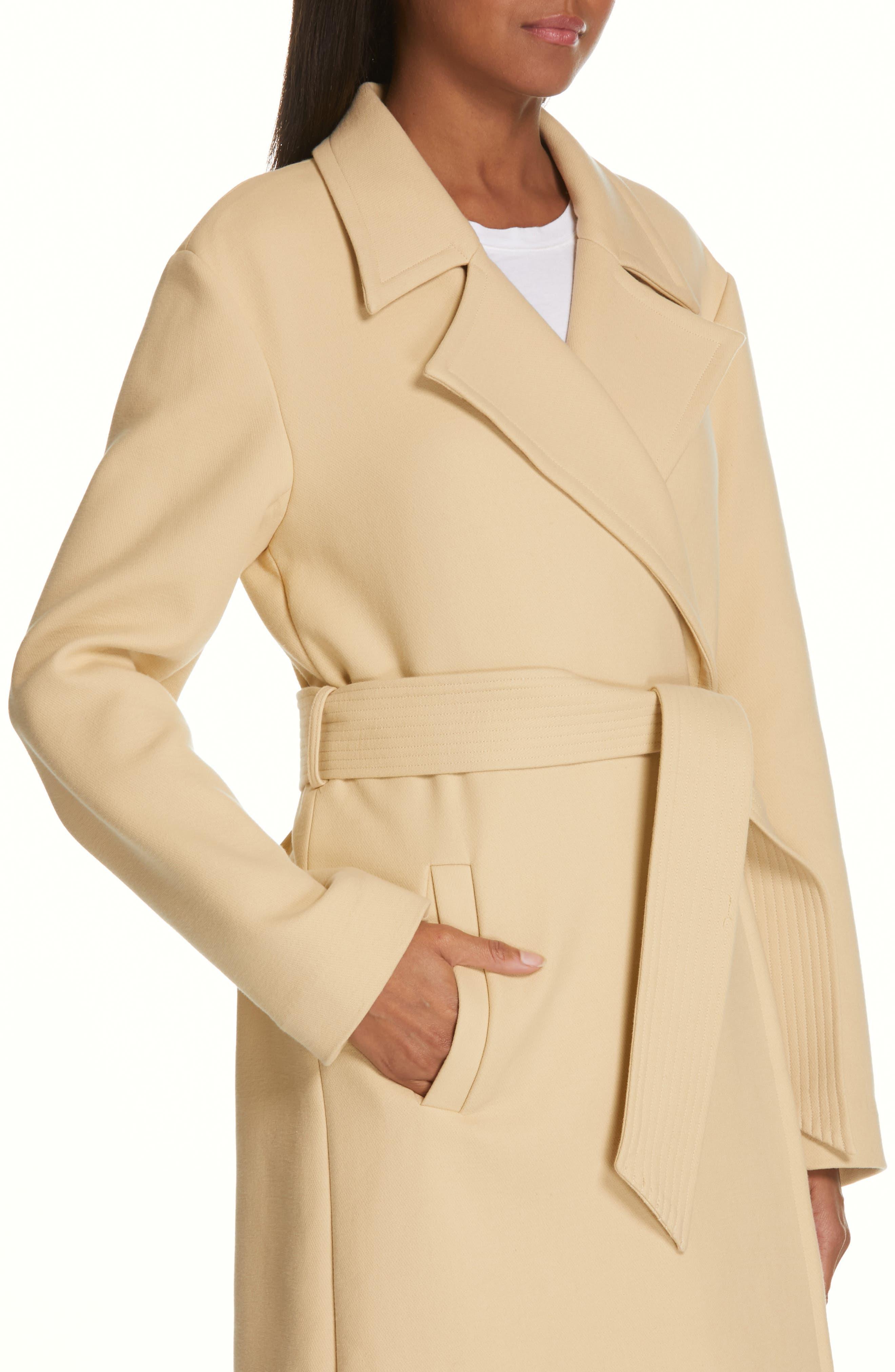 Alyssandra Trench Coat,                             Alternate thumbnail 4, color,                             BISCUIT