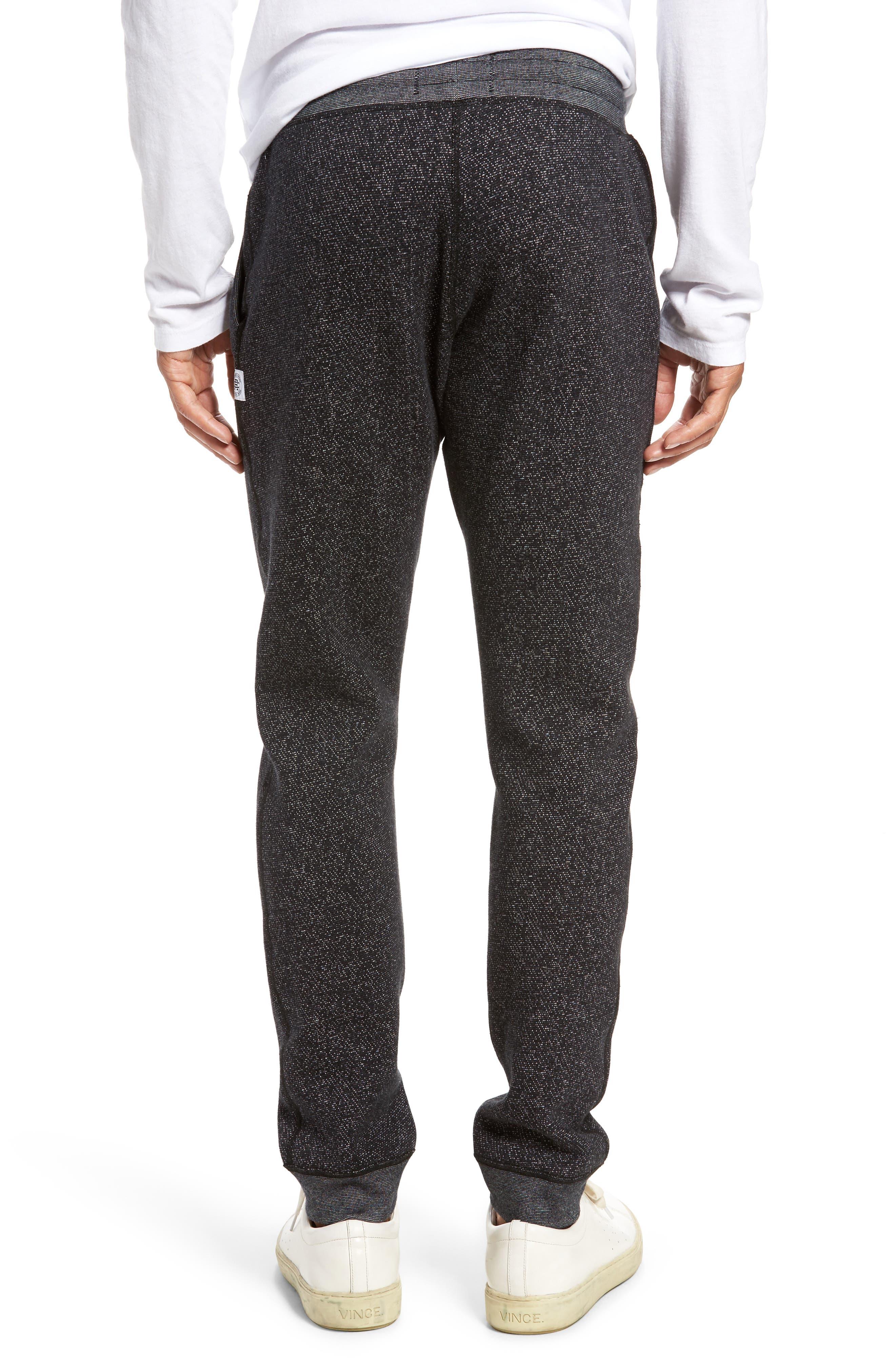 Tiger Slim Jogger Sweatpants,                             Alternate thumbnail 2, color,                             BLACK