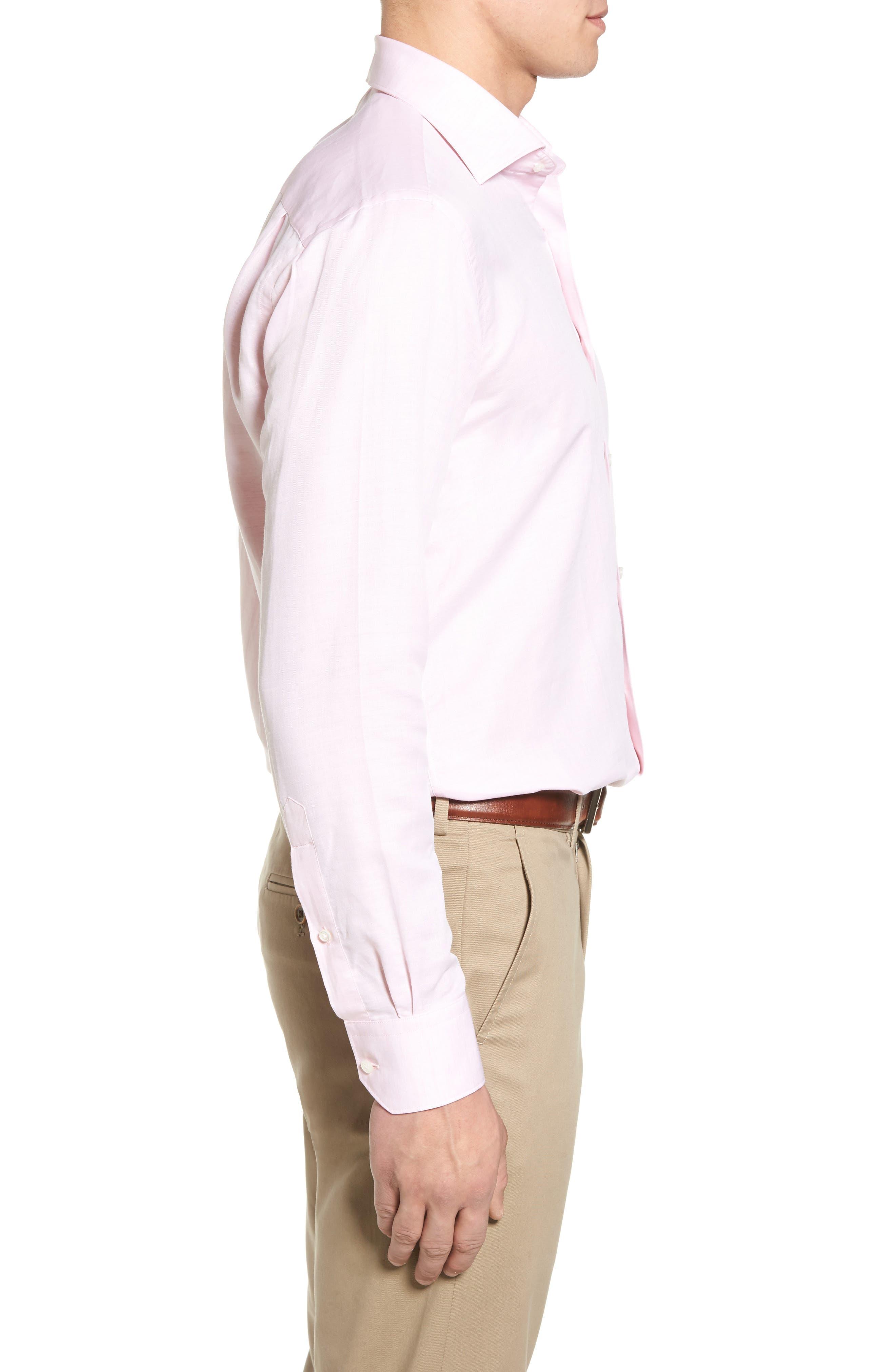 PETER MILLAR COLLECTION,                             Linen & Cotton Sport Shirt,                             Alternate thumbnail 3, color,                             626