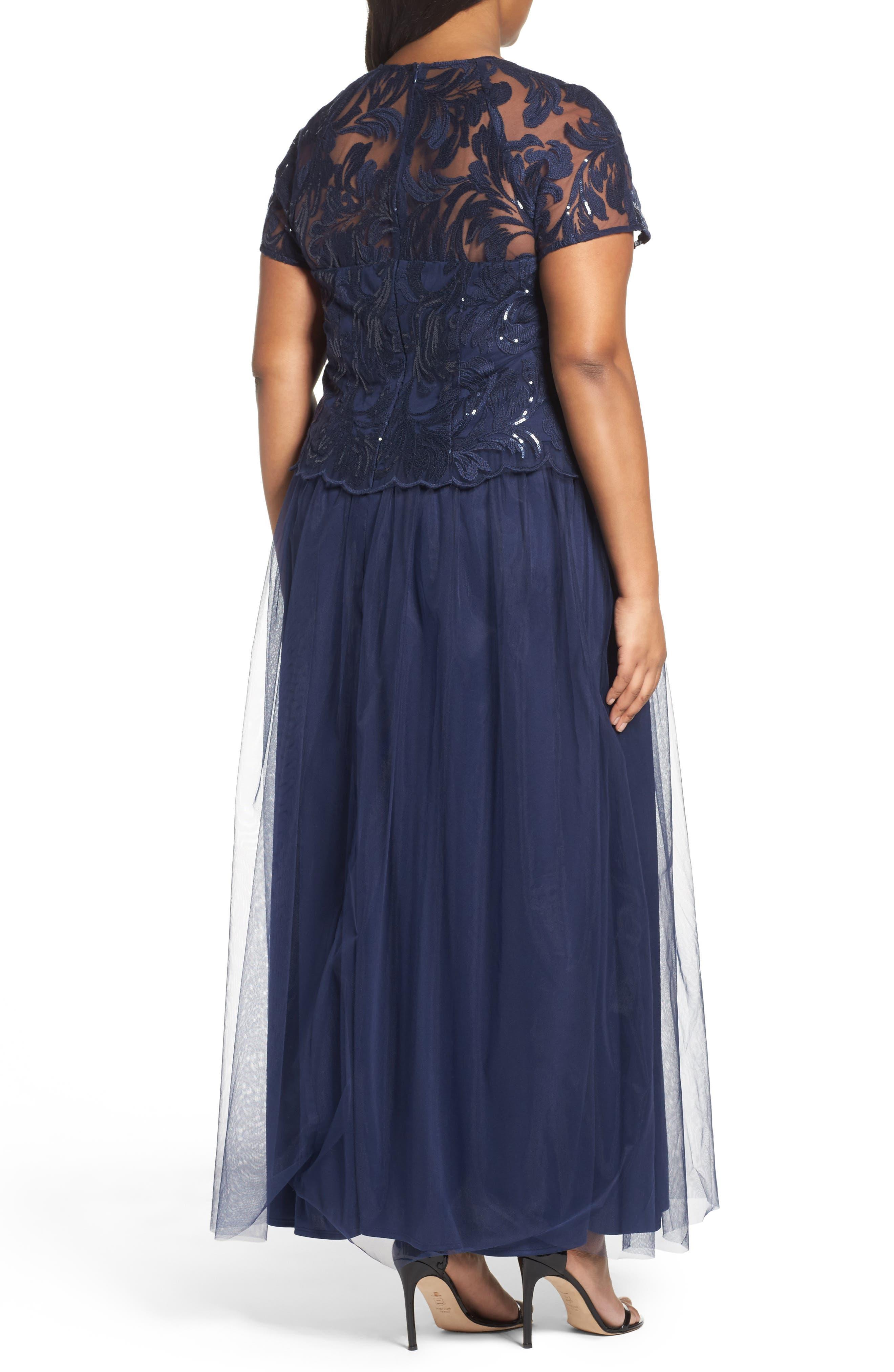 Sequin Bodice Gown,                             Alternate thumbnail 2, color,                             410