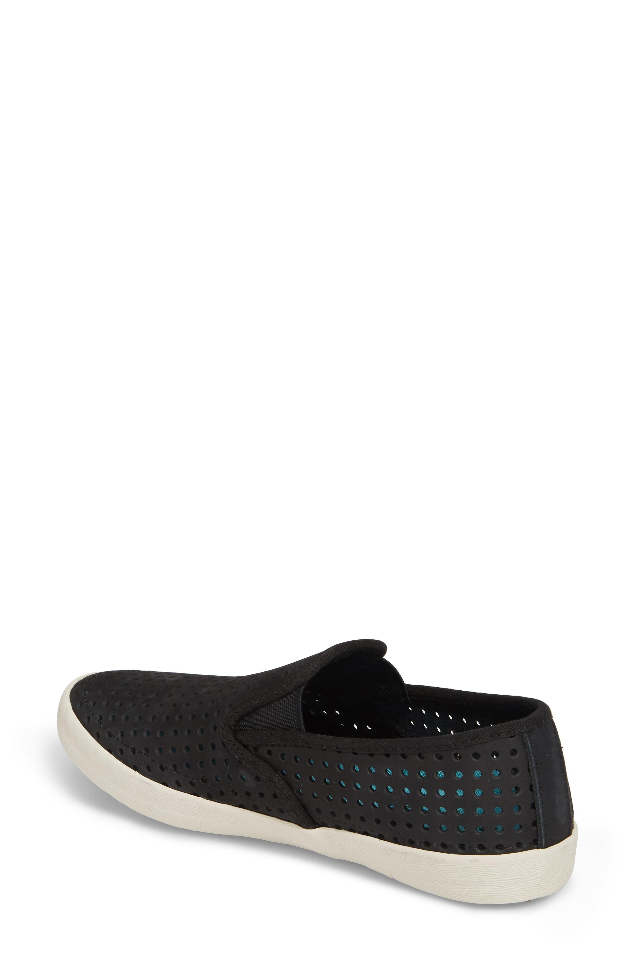 Baja Perforated Slip-On Sneaker,                             Alternate thumbnail 2, color,                             BLACK