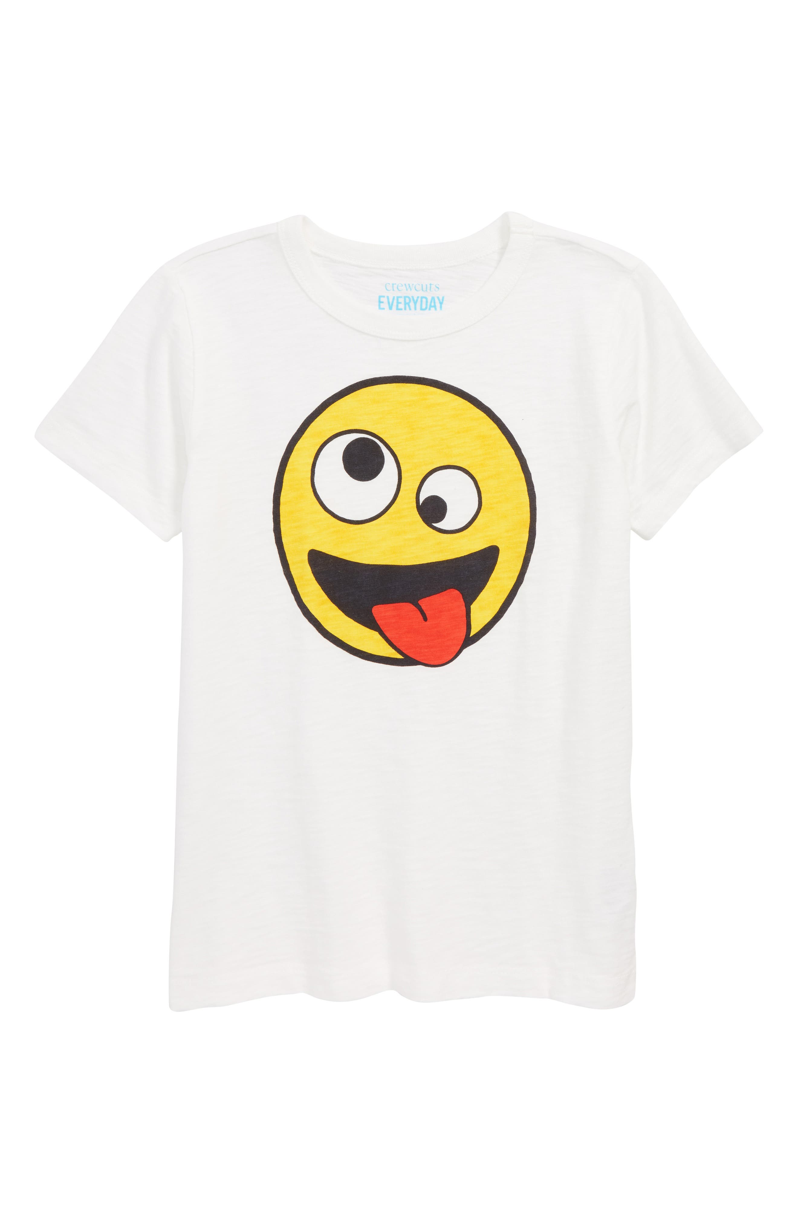 Crazy Eyes Emoji Graphic T-Shirt,                             Main thumbnail 1, color,                             900