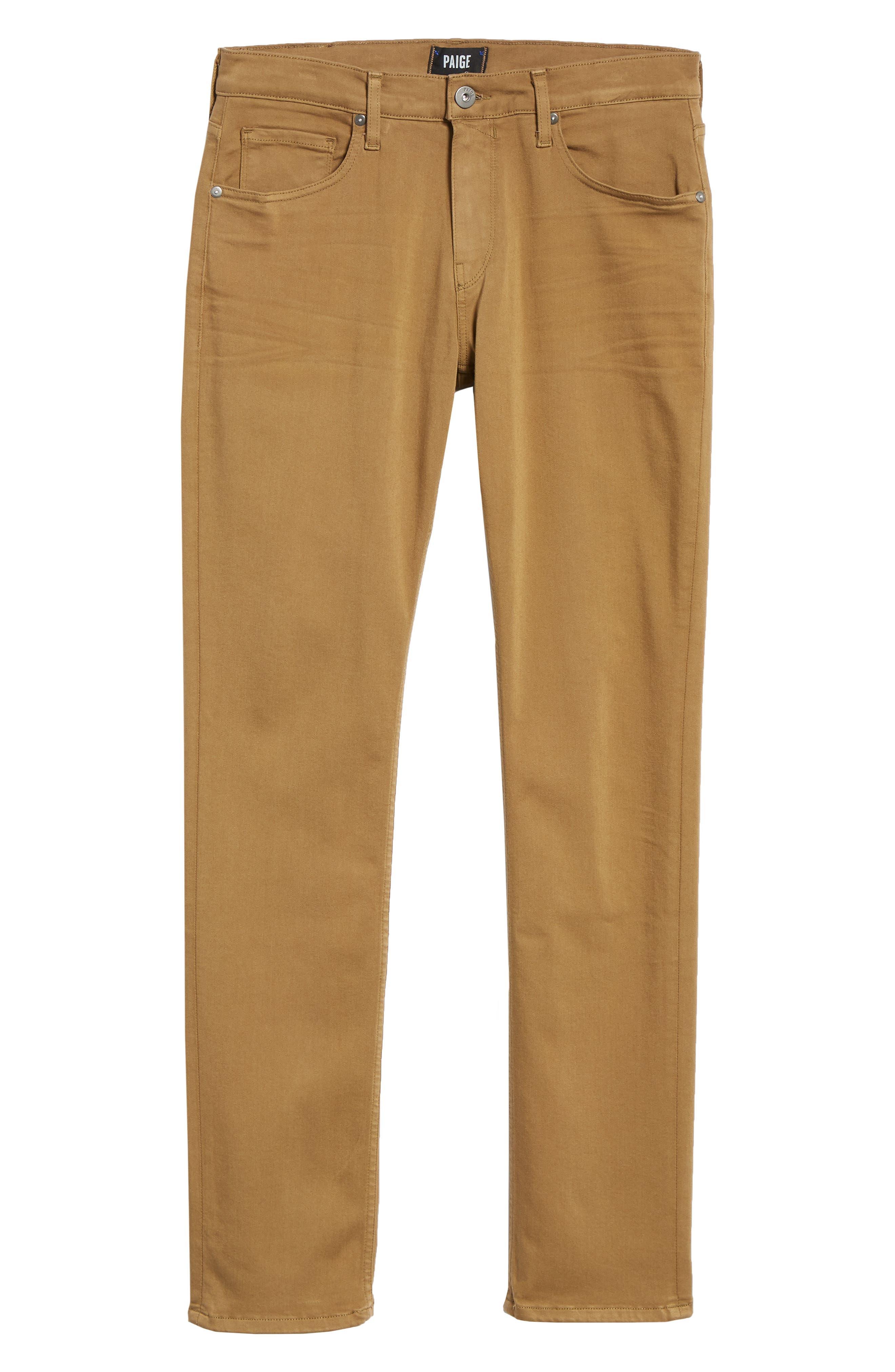 Transcend - Lennox Slim Fit Jeans,                             Alternate thumbnail 6, color,                             LAUREL TAN