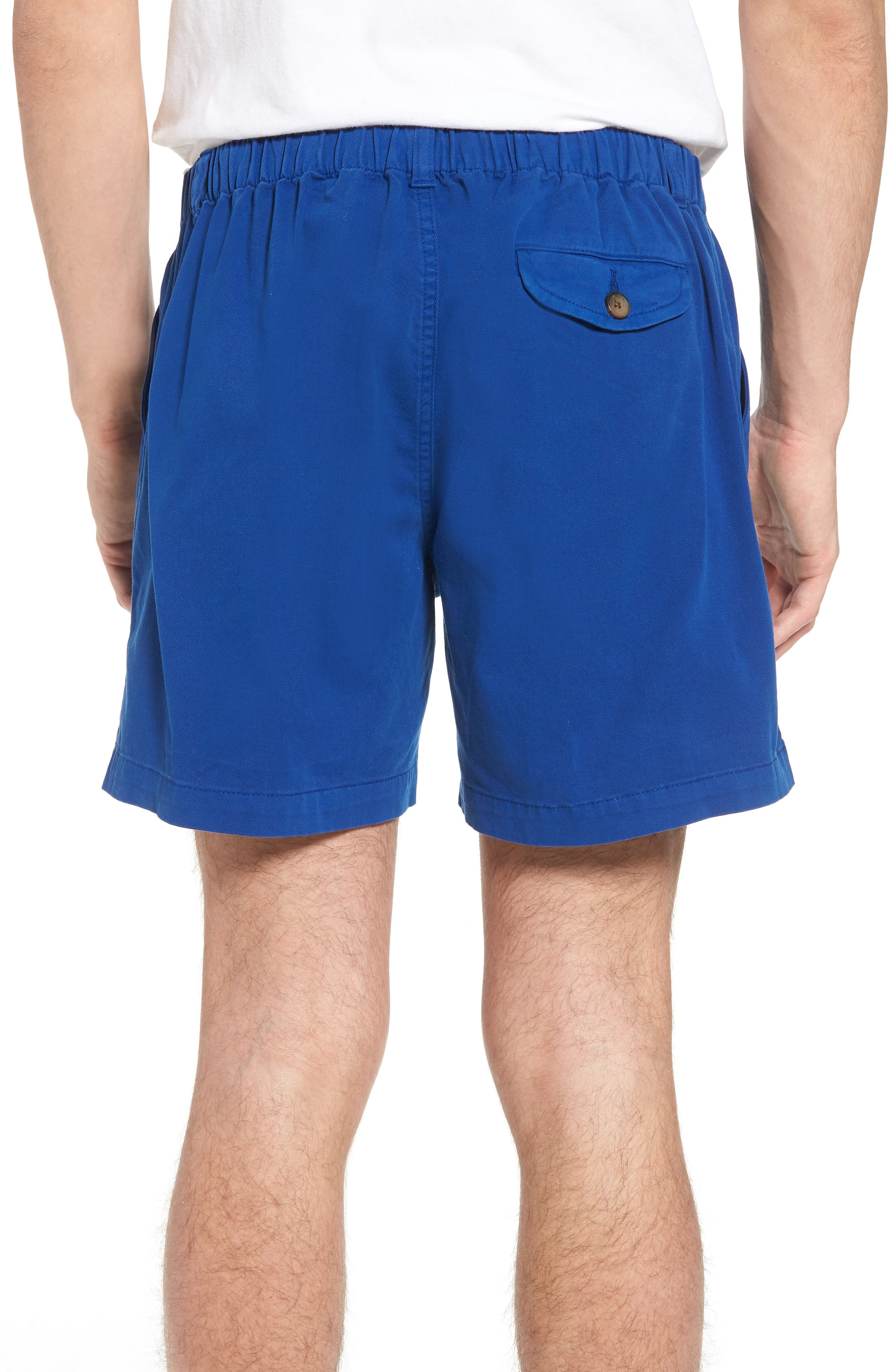 Snappers Elastic Waist 5.5 Inch Stretch Shorts,                             Alternate thumbnail 2, color,                             PREP BLUE