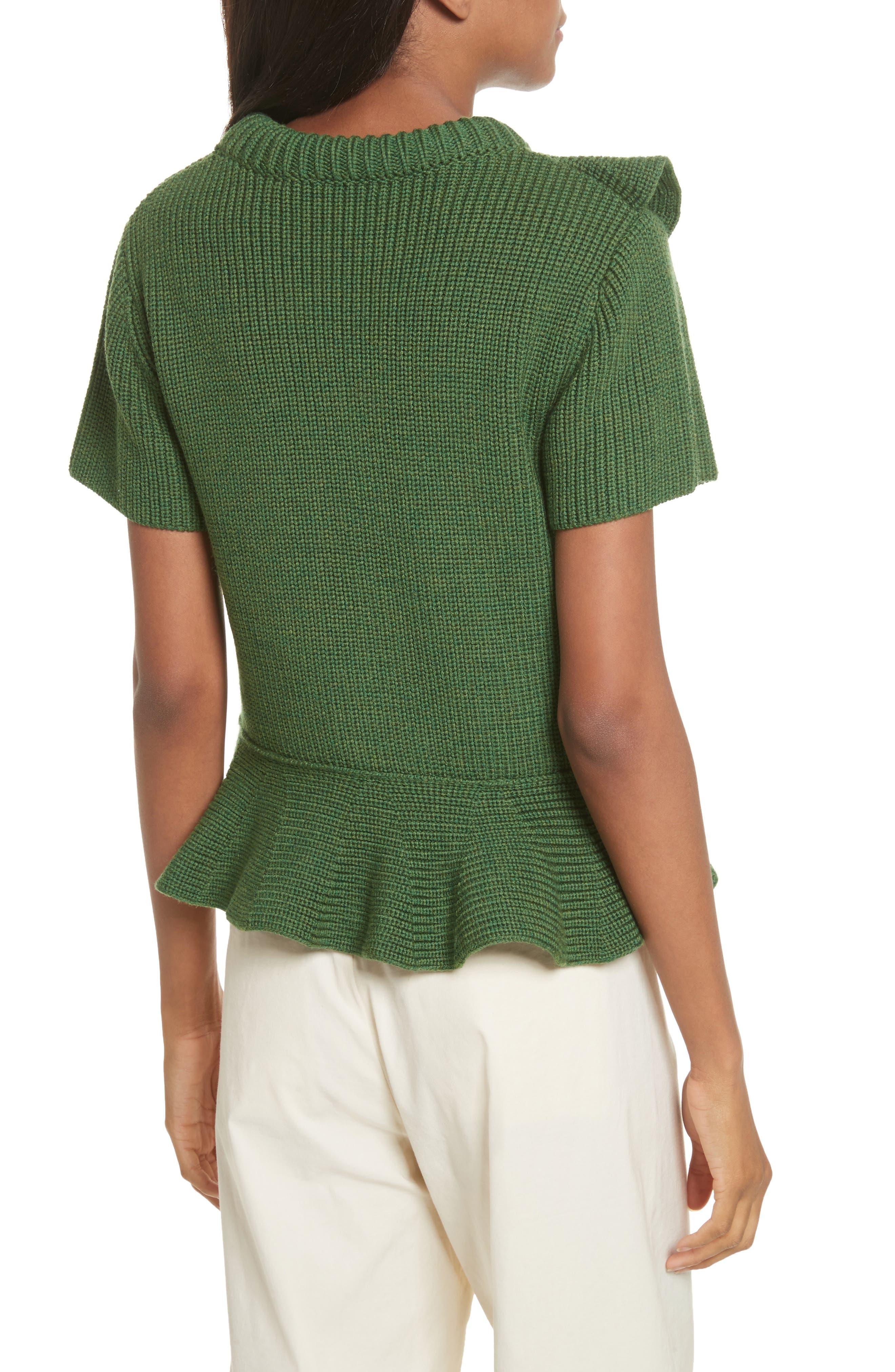 Ruffle Wool Sweater,                             Alternate thumbnail 2, color,                             300