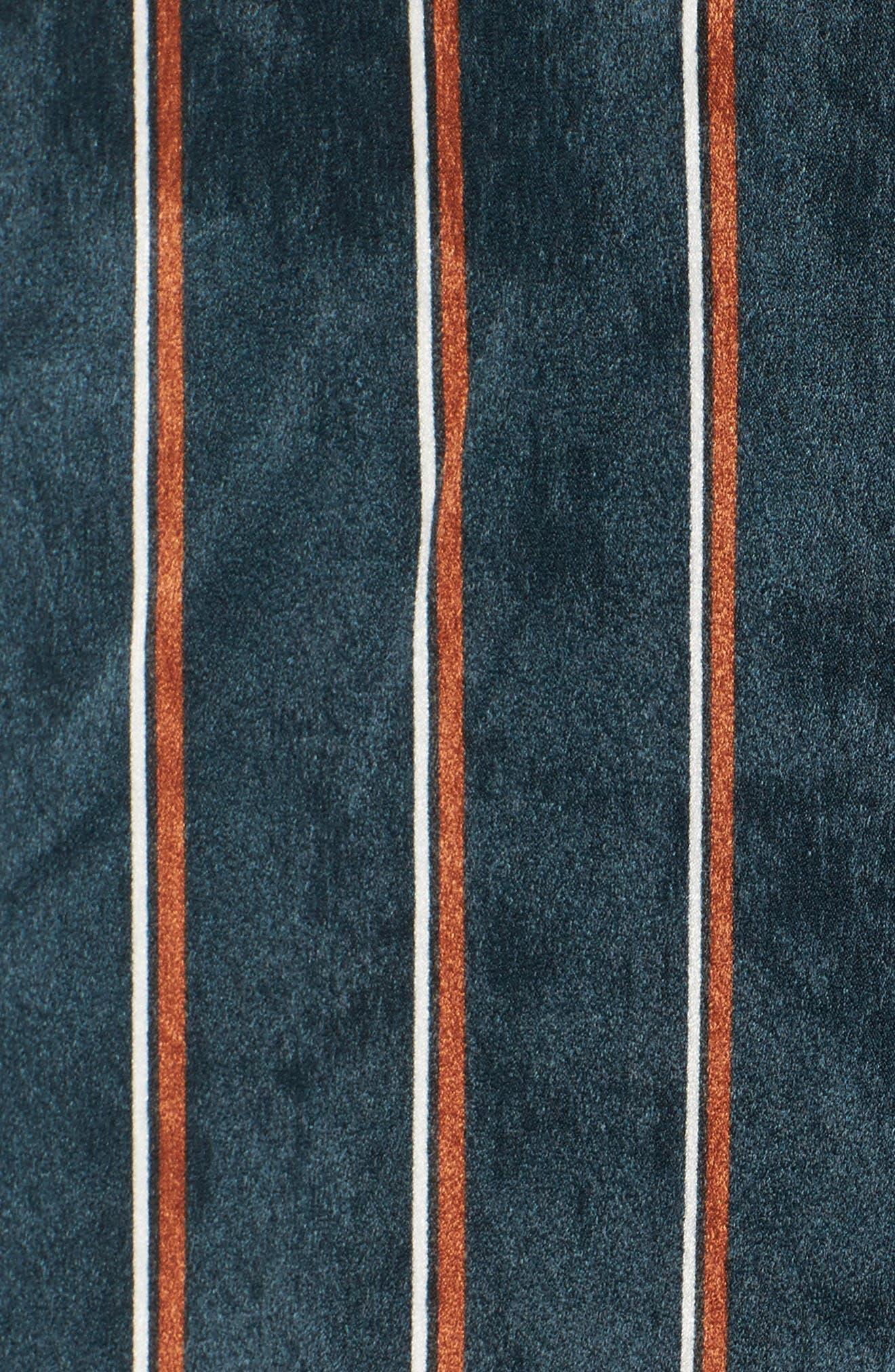 One-Shoulder Stripe Shirt,                             Alternate thumbnail 5, color,                             360