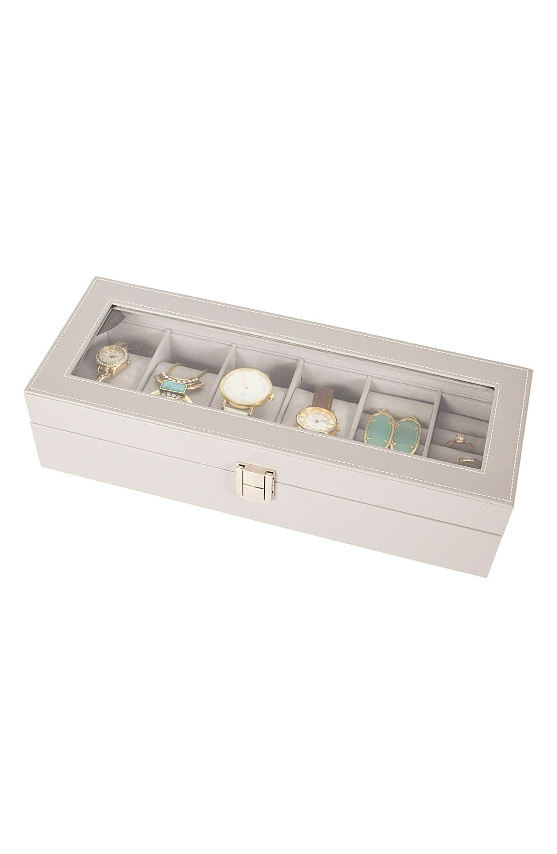 Monogram Watch & Jewelry Case,                         Main,                         color, BLANK