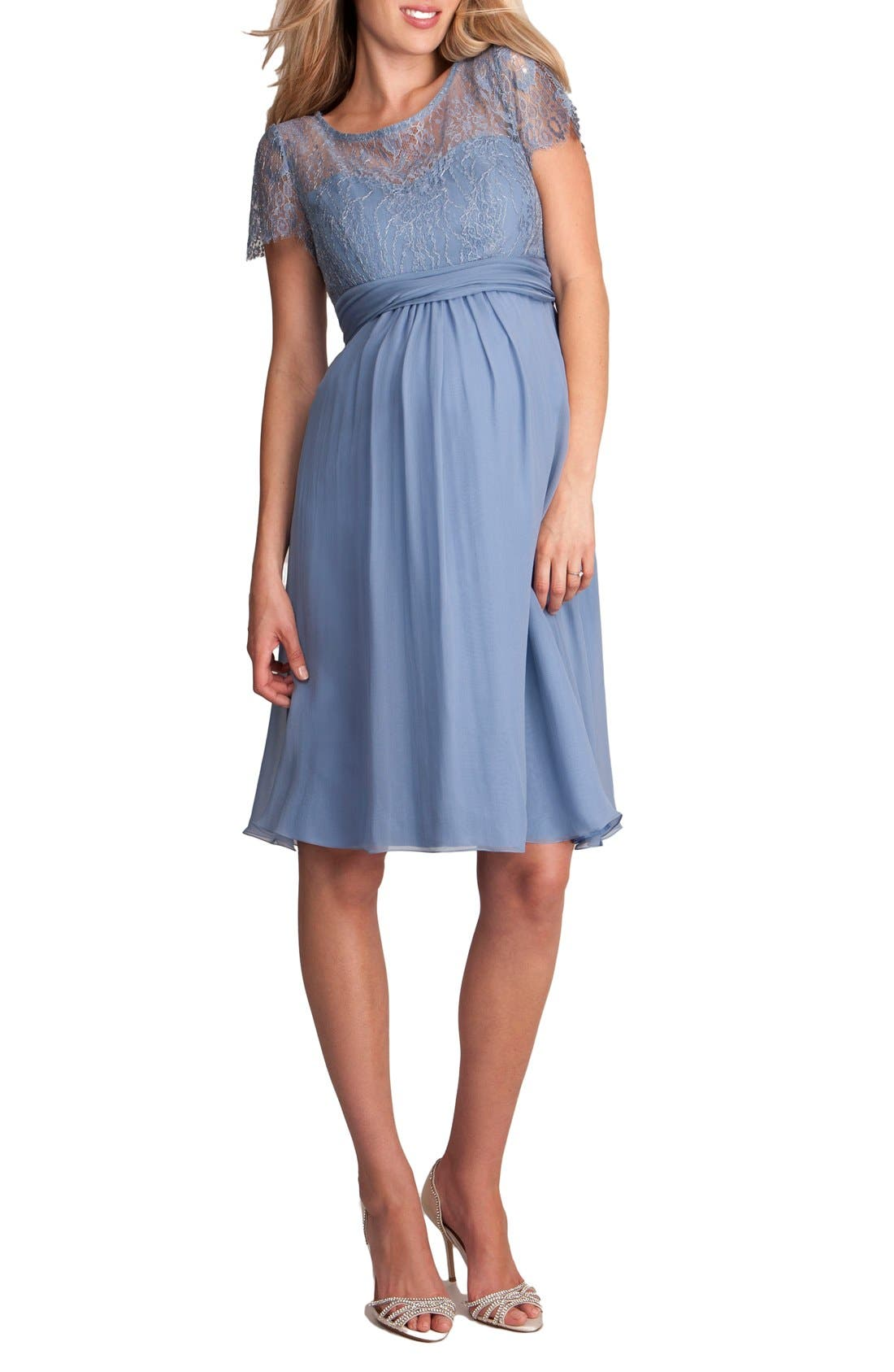 'Genevieve Luxe' Sleeveless Lace & Silk Maternity Dress,                             Main thumbnail 2, color,