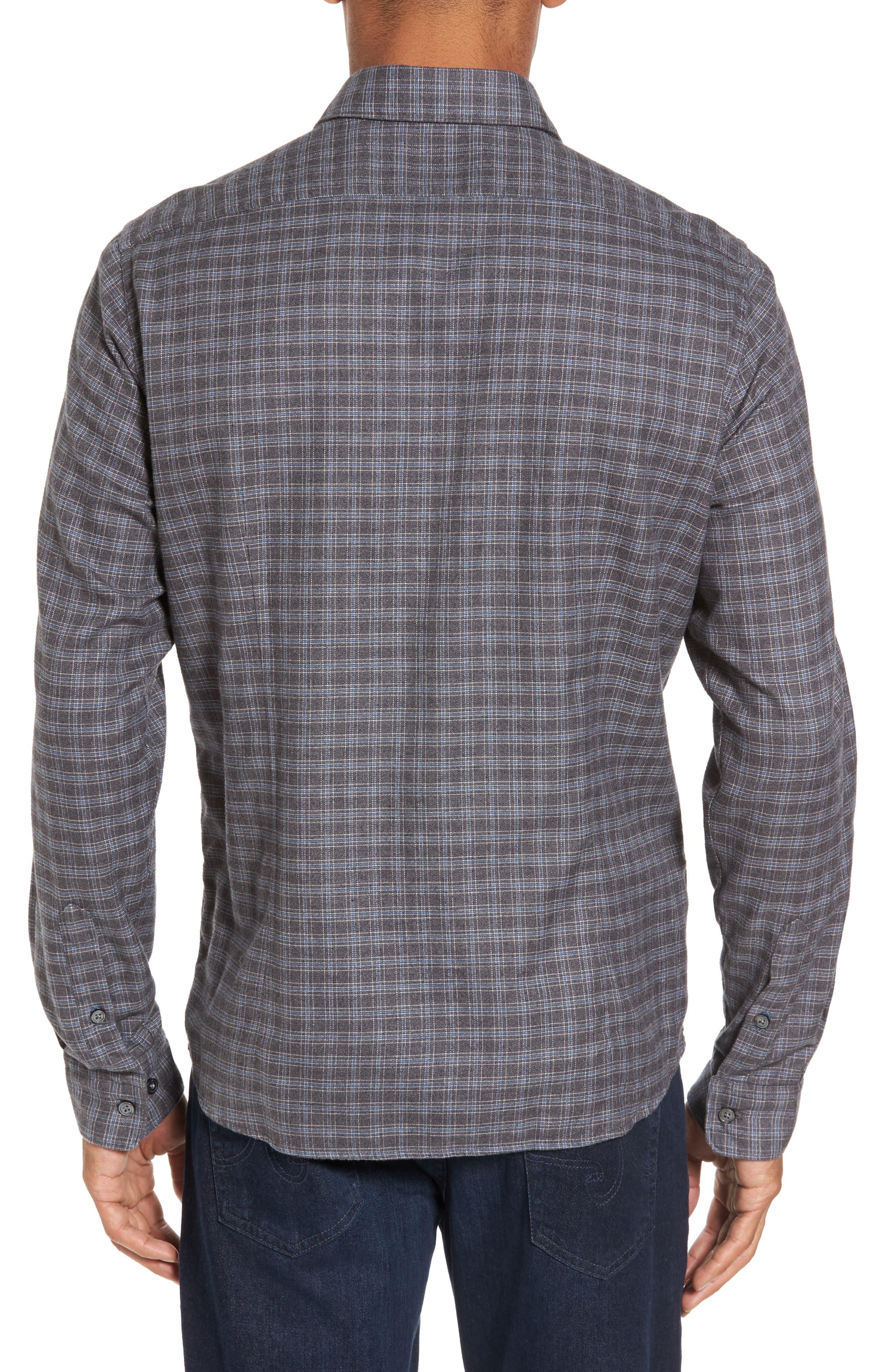Lance Slim Fit Flannel Sport Shirt,                             Alternate thumbnail 2, color,                             030