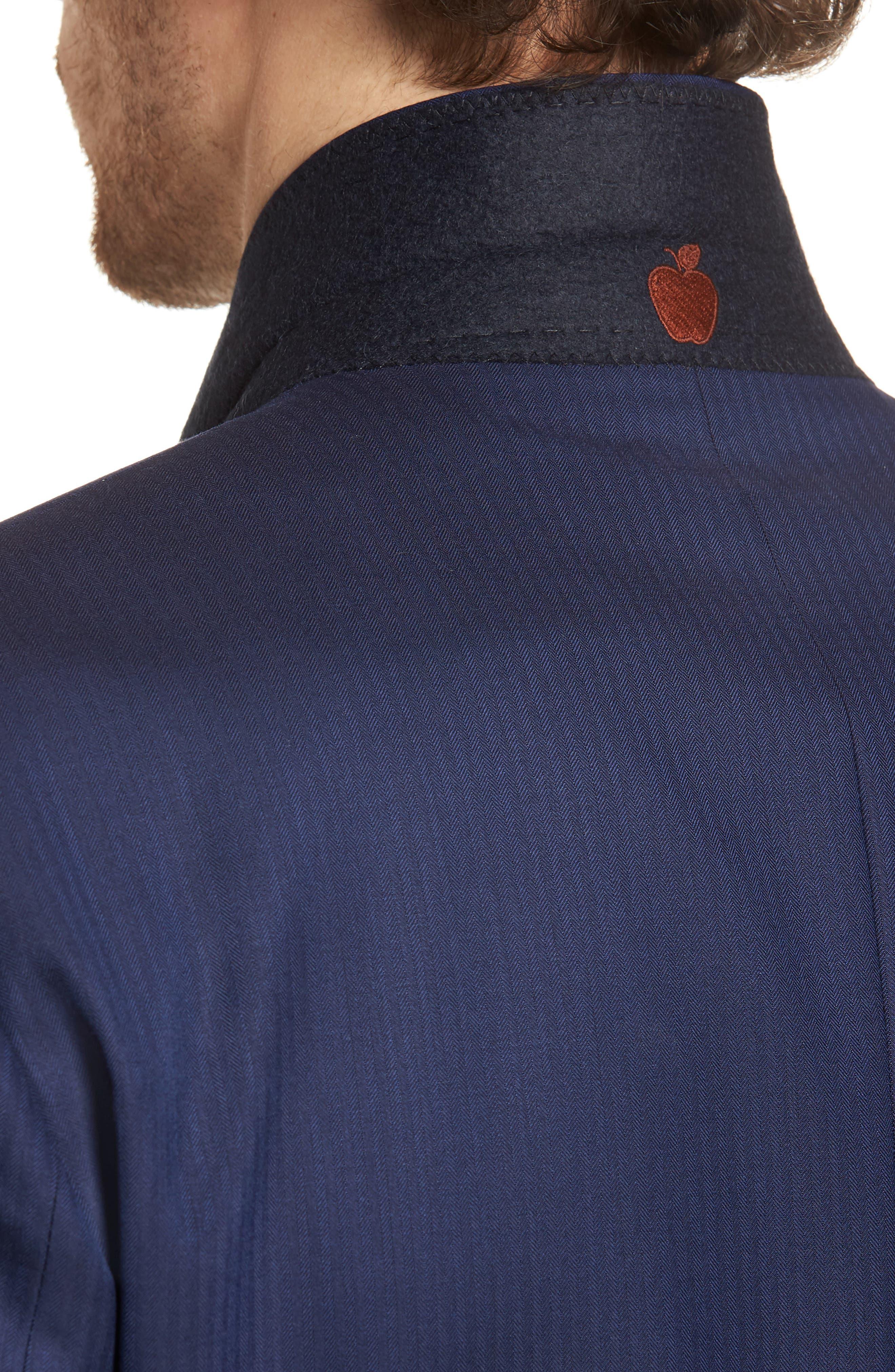 Jay Trim Fit Stripe Wool Suit,                             Alternate thumbnail 4, color,                             410