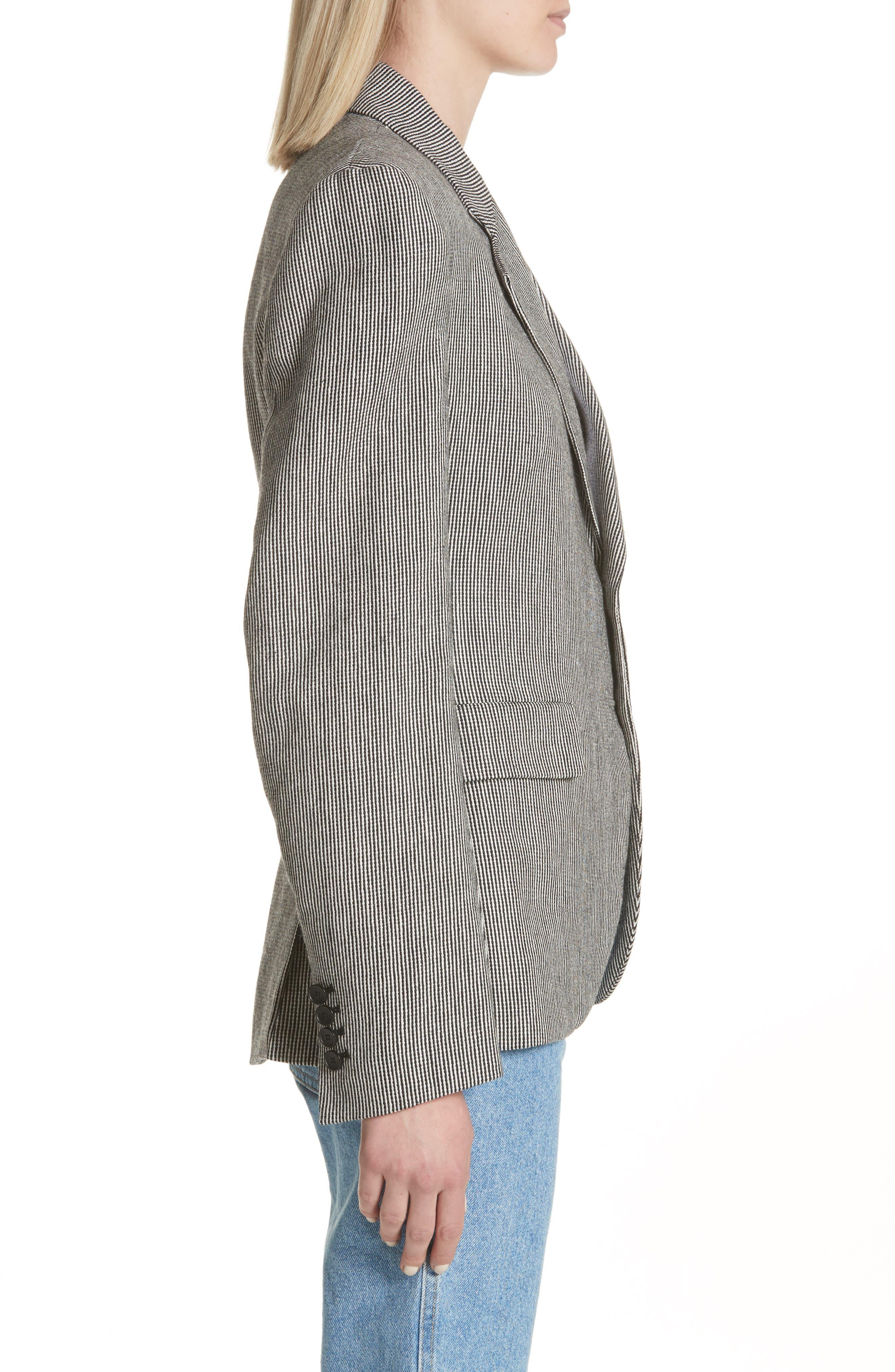 Stripe Tweed Blazer,                             Alternate thumbnail 3, color,                             020