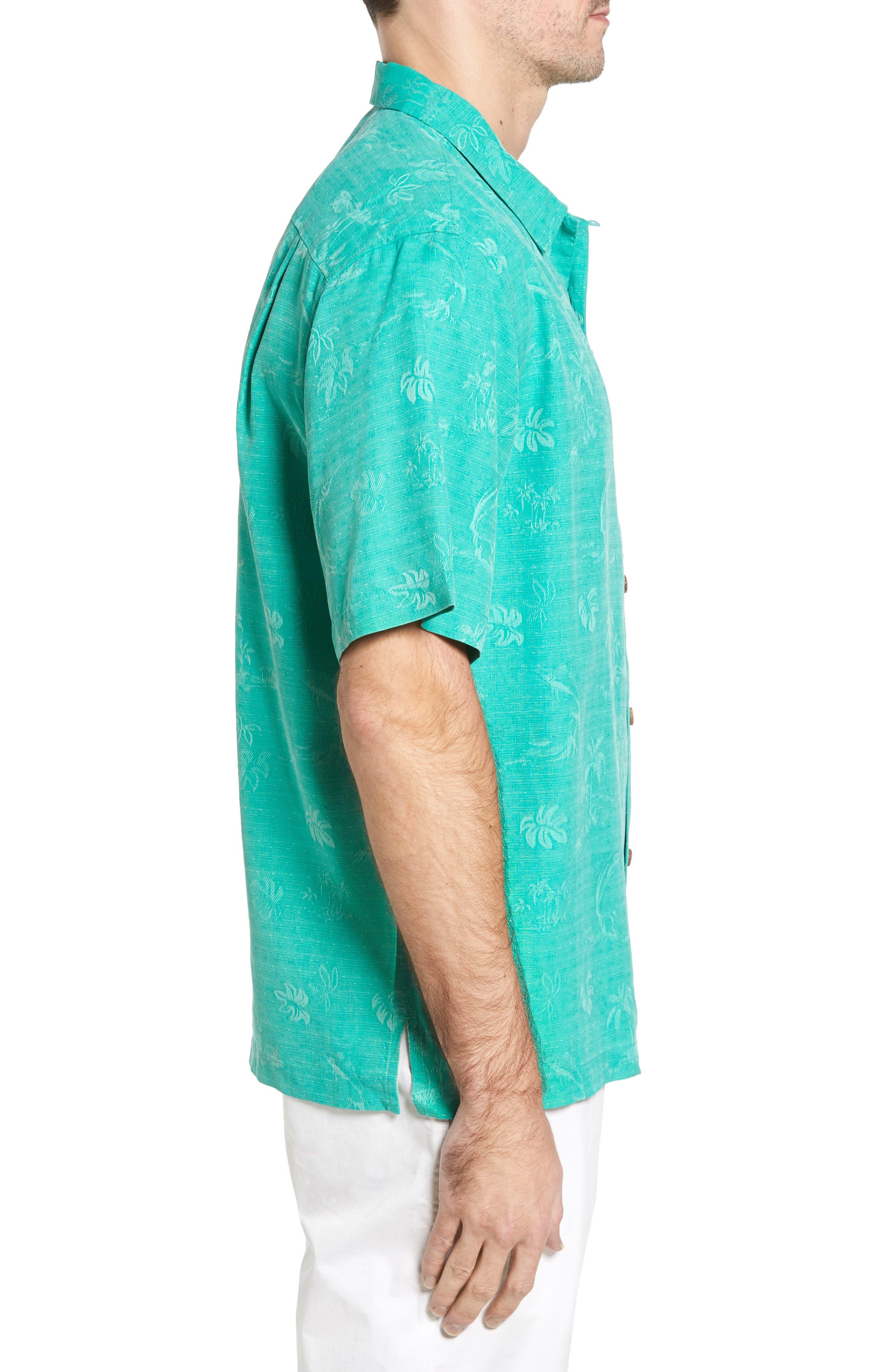 Gulf Shore Marlin Silk Camp Shirt,                             Alternate thumbnail 12, color,