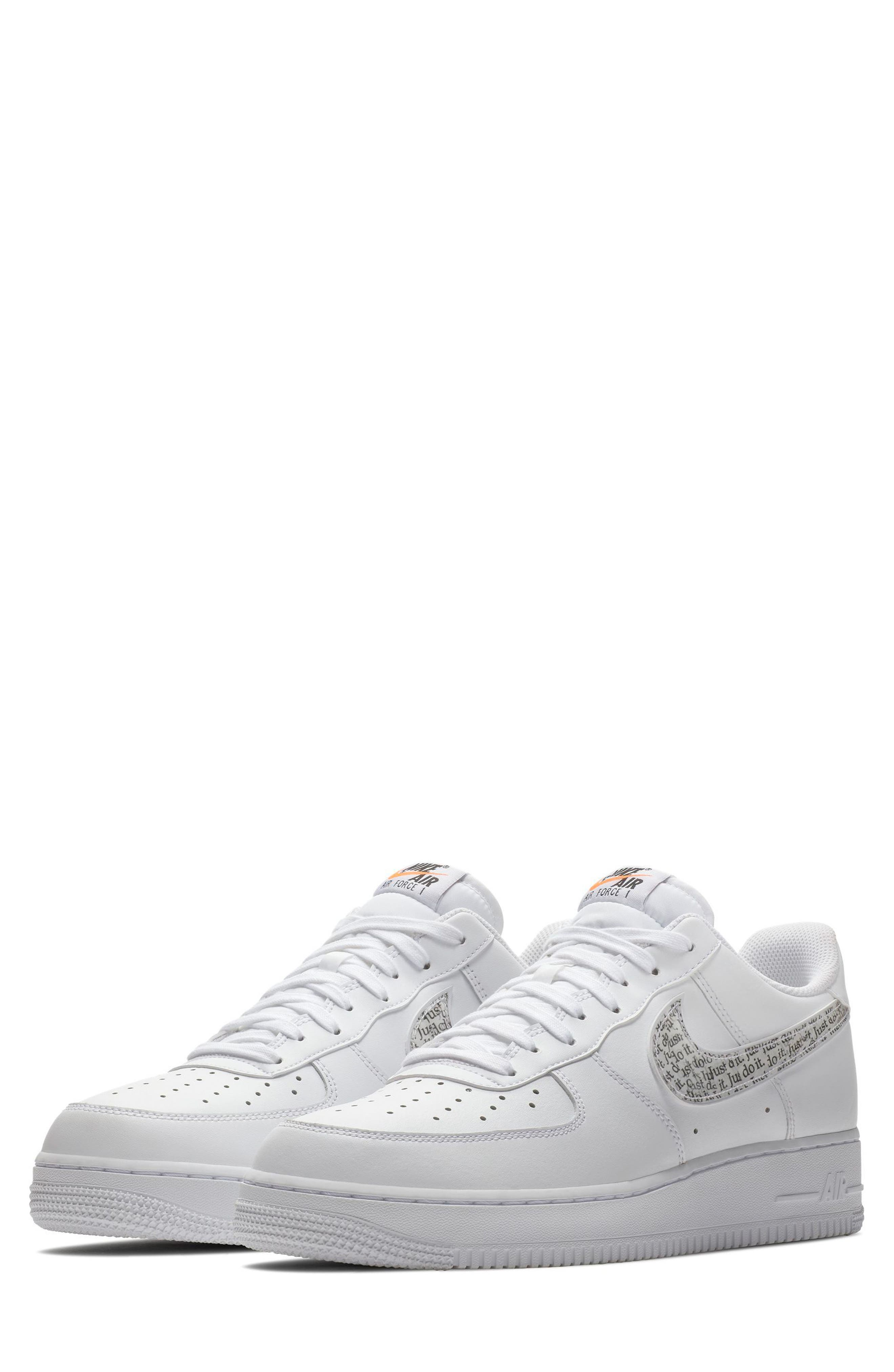 Air Force 1 '07 LV8 Just Do It Sneaker,                             Main thumbnail 1, color,                             100