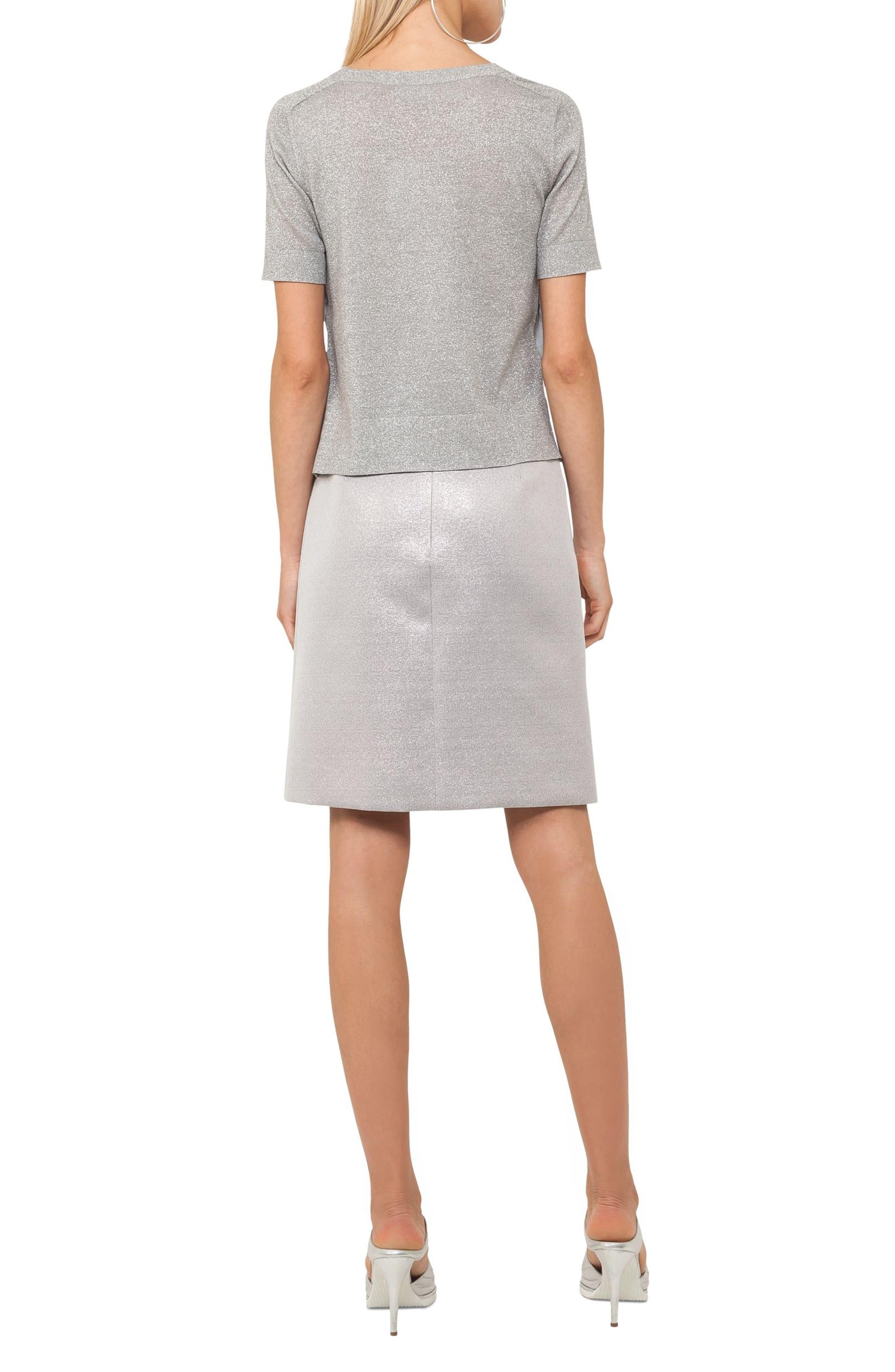 Metallic Short Sleeve Sweater,                             Alternate thumbnail 2, color,                             088