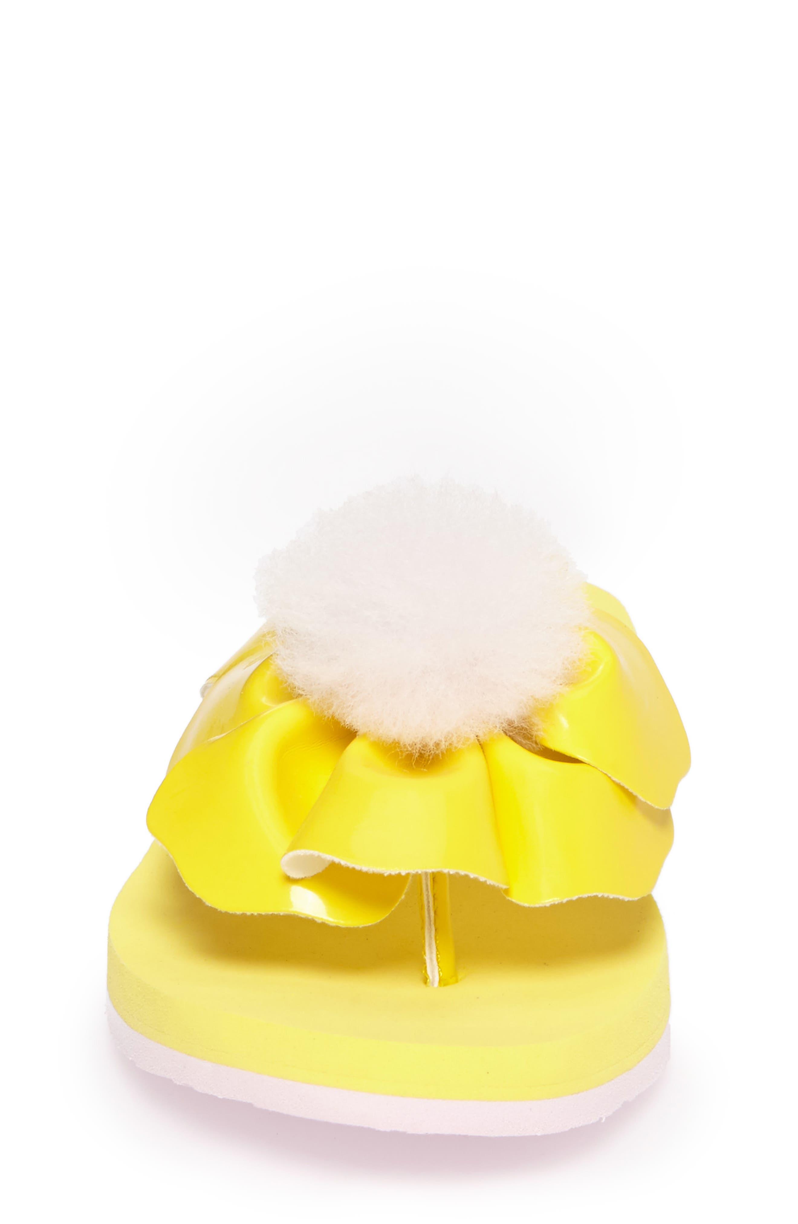 Poppy Genuine Shearling Flip Flop,                             Alternate thumbnail 12, color,