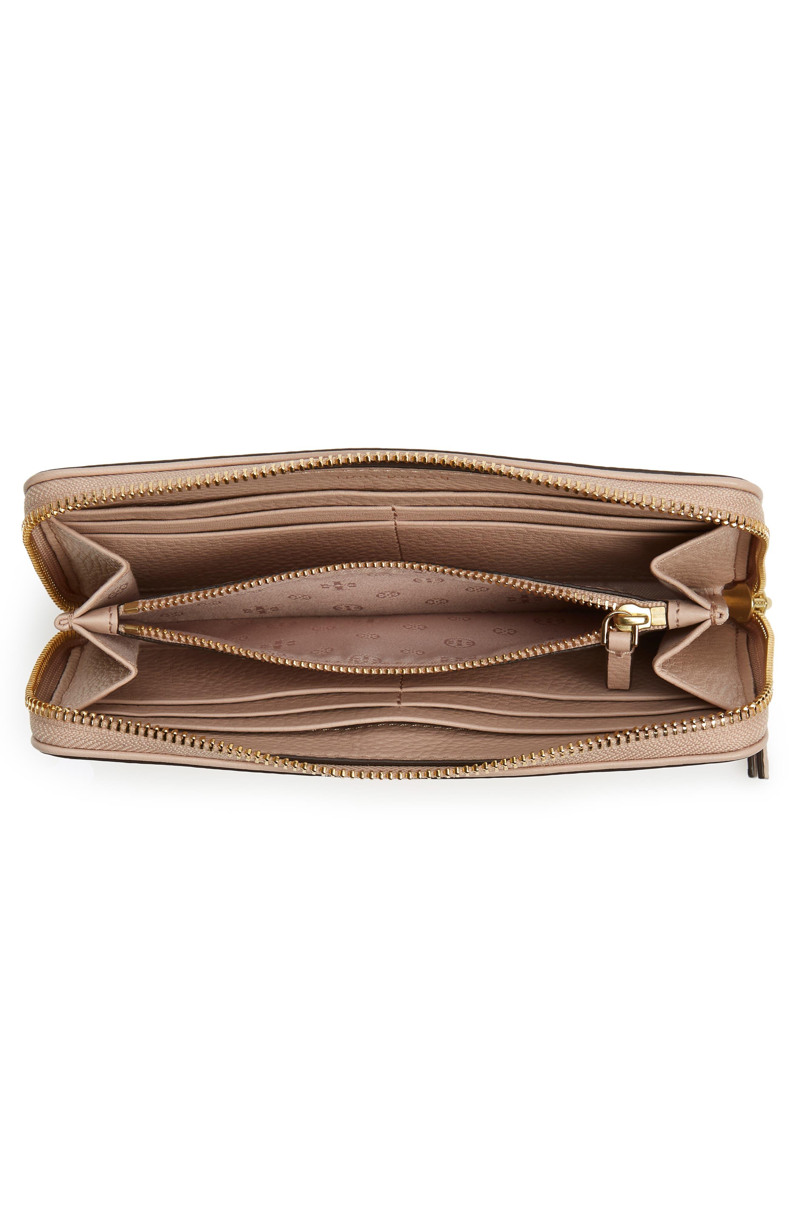 Marsden Leather Zip Around Wallet,                             Alternate thumbnail 12, color,