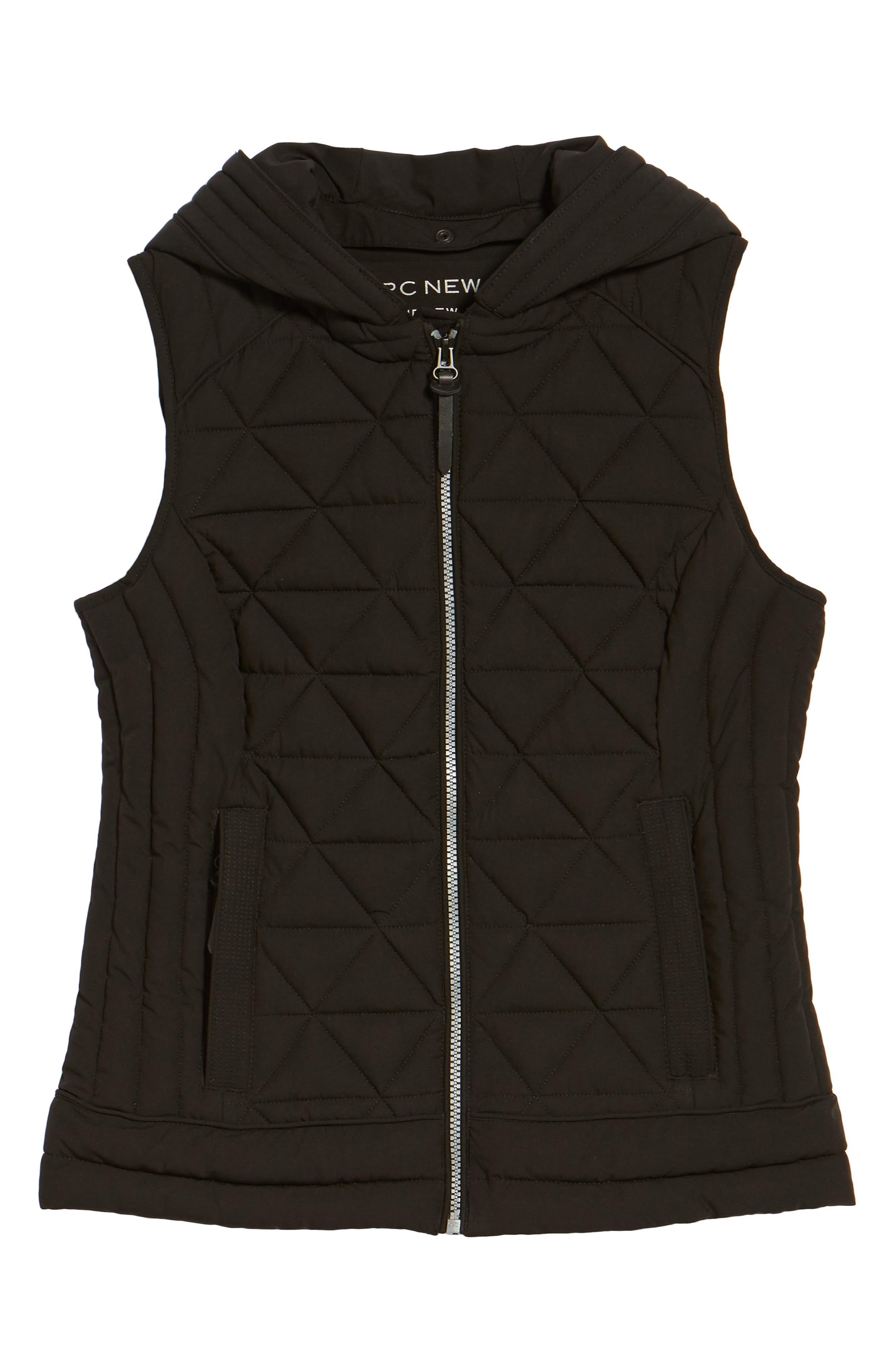 Sage Hooded Quilted Vest,                             Alternate thumbnail 9, color,