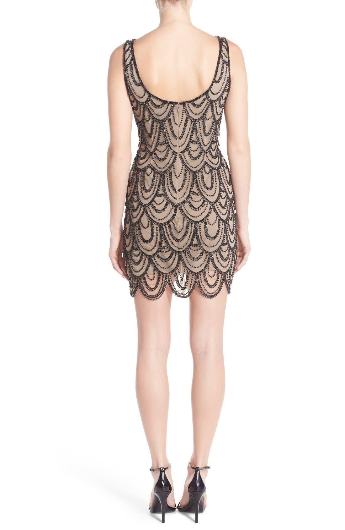 Embellished Mesh Sheath Dress,                             Alternate thumbnail 52, color,