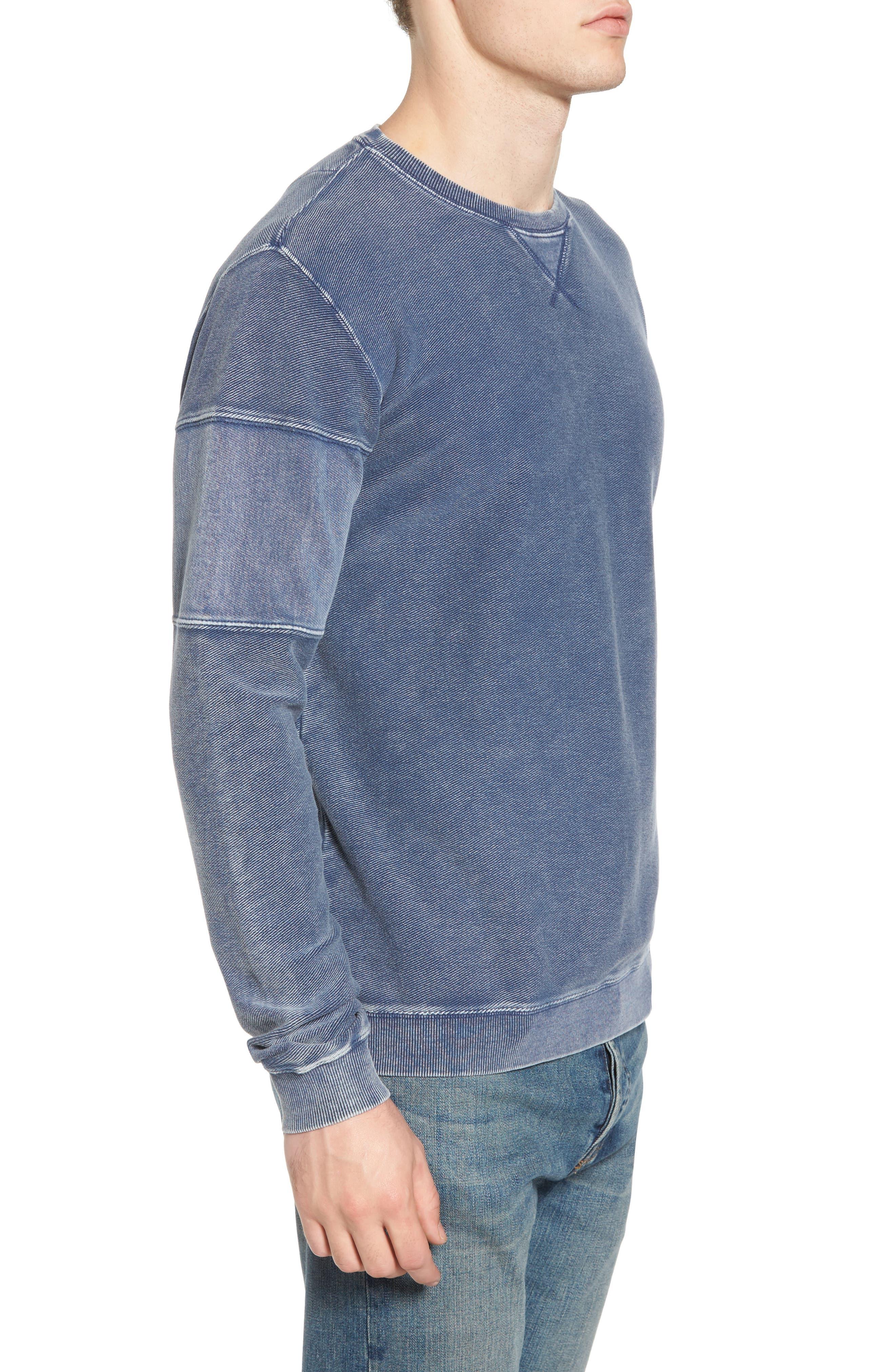 Distressed Sweatshirt,                             Alternate thumbnail 3, color,                             475