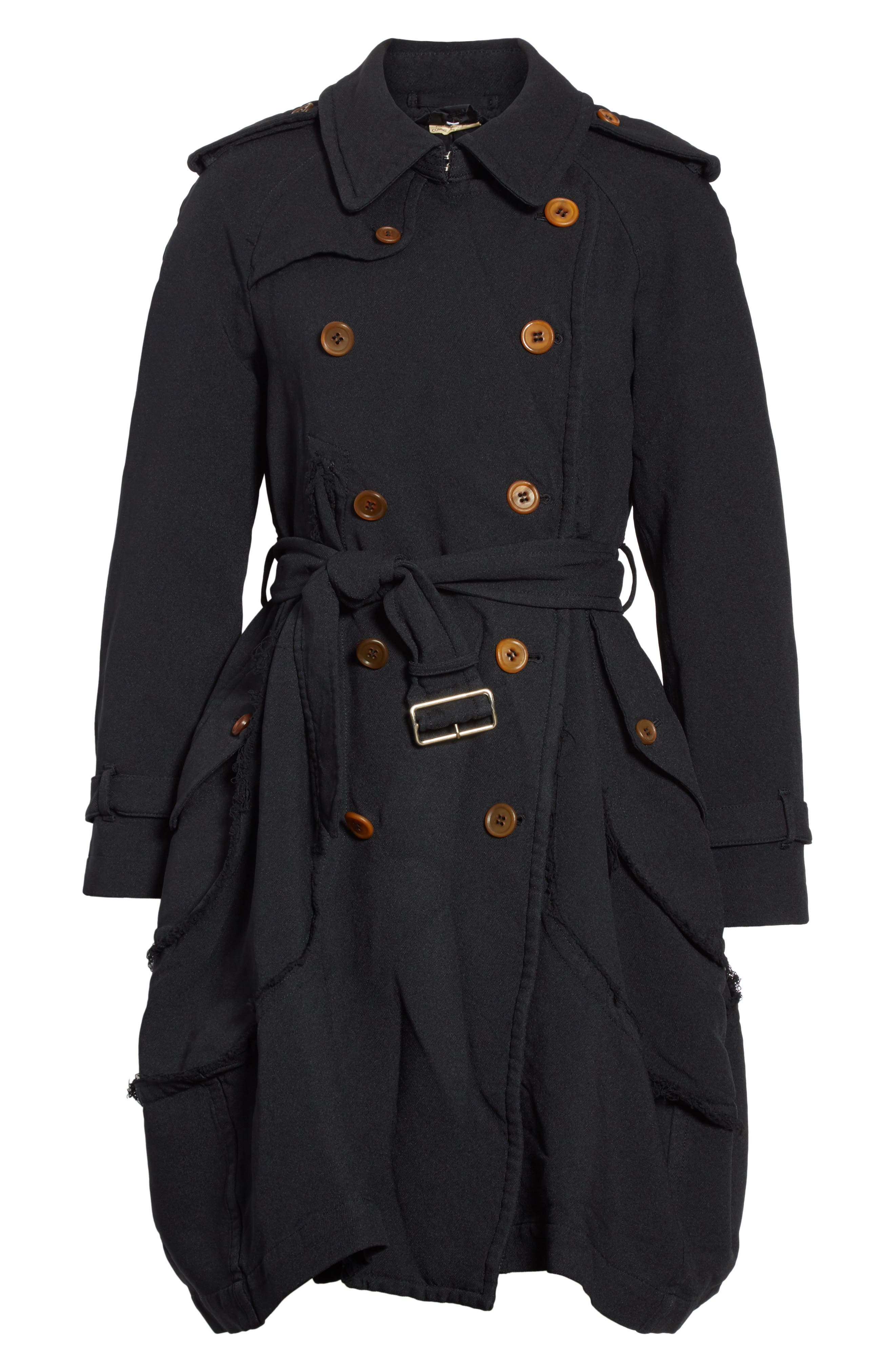 Double Breasted Coat,                             Alternate thumbnail 5, color,                             001