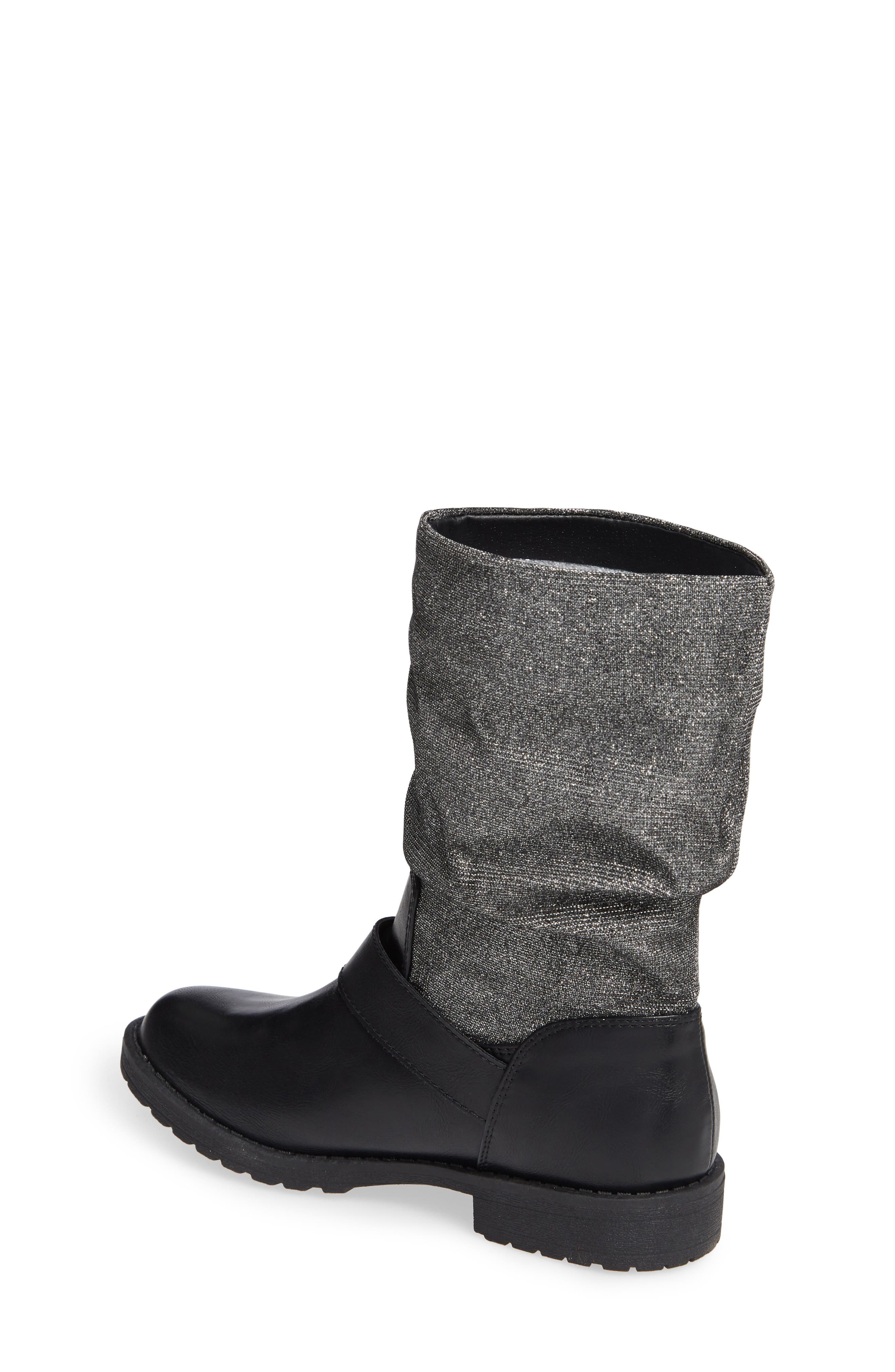 Slouchy Boot,                             Alternate thumbnail 2, color,                             BLACK