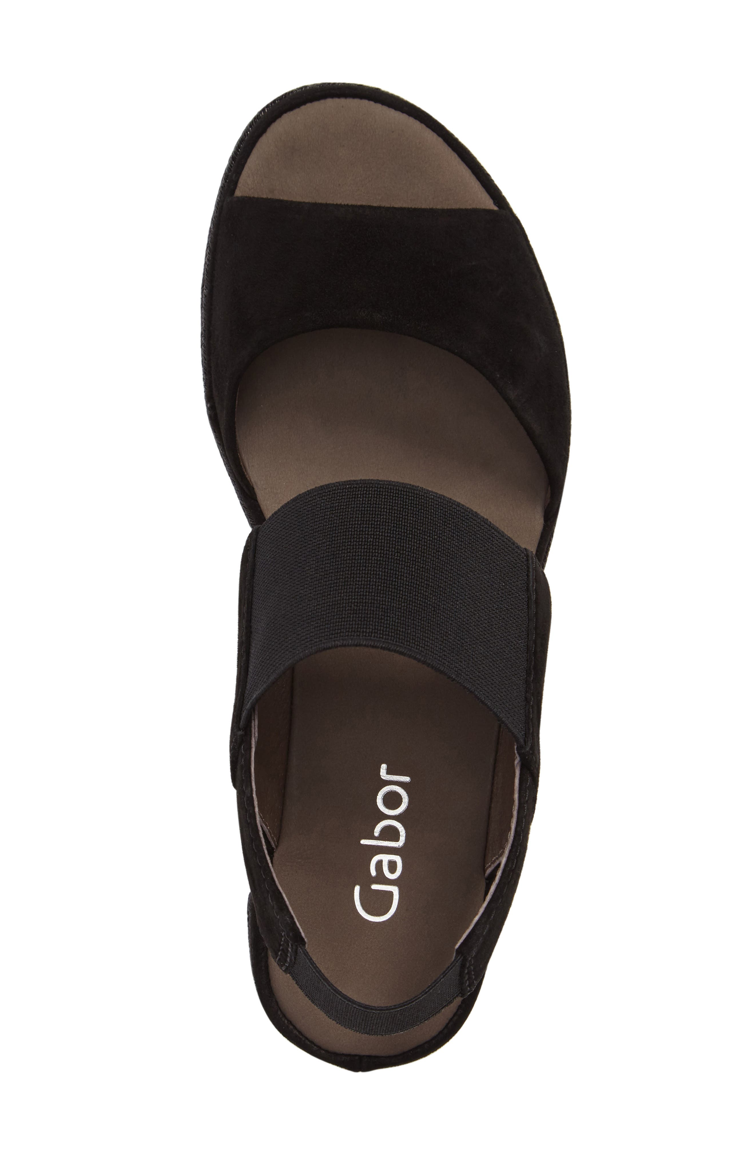 Low Wedge Sandal,                             Alternate thumbnail 5, color,                             001