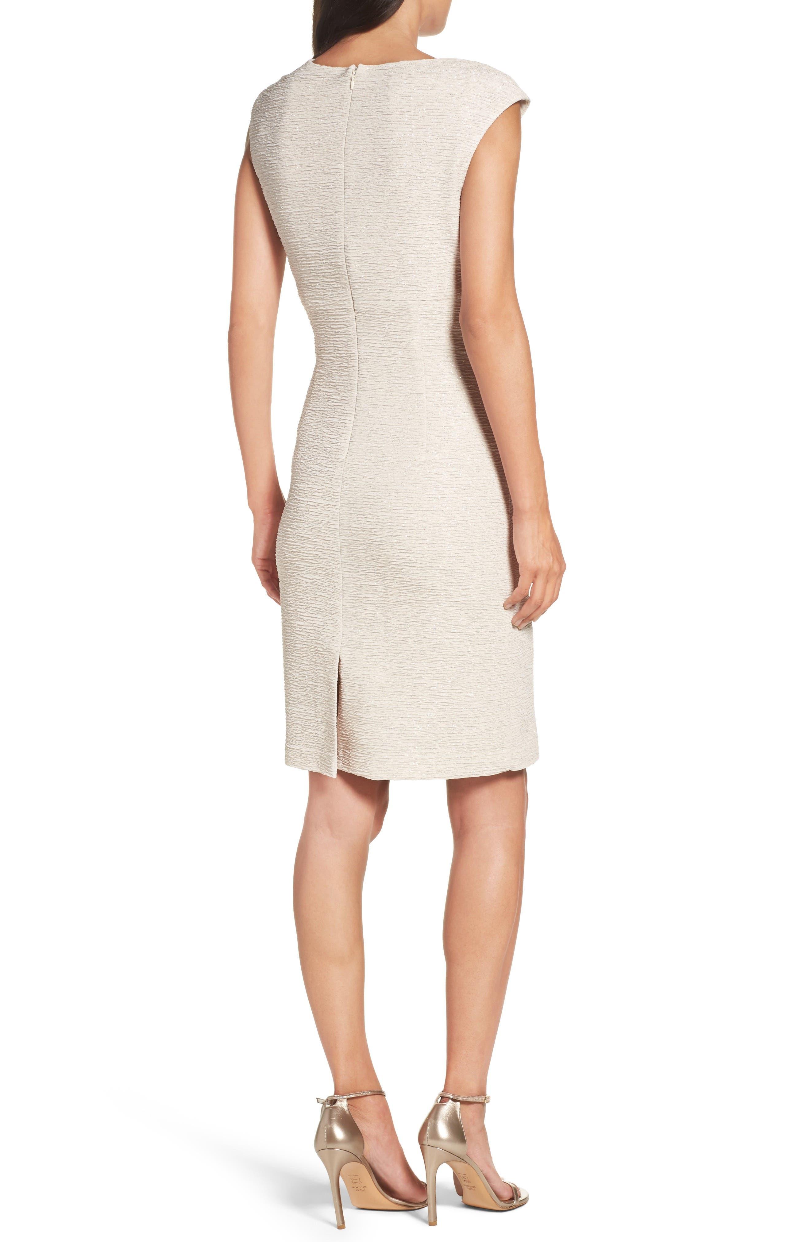 Embellished Glitter Knit Sheath Dress,                             Alternate thumbnail 2, color,