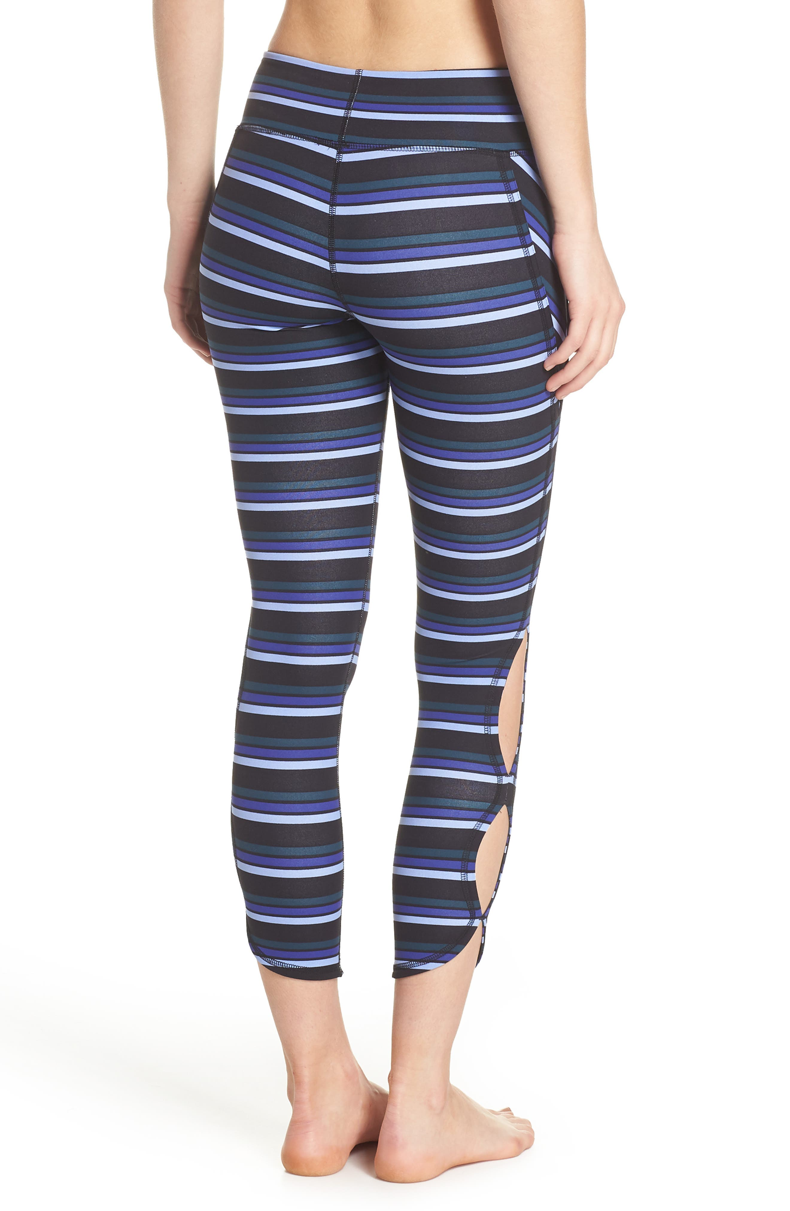 FREE PEOPLE MOVEMENT,                             Stripe Infinity Leggings,                             Alternate thumbnail 2, color,                             001