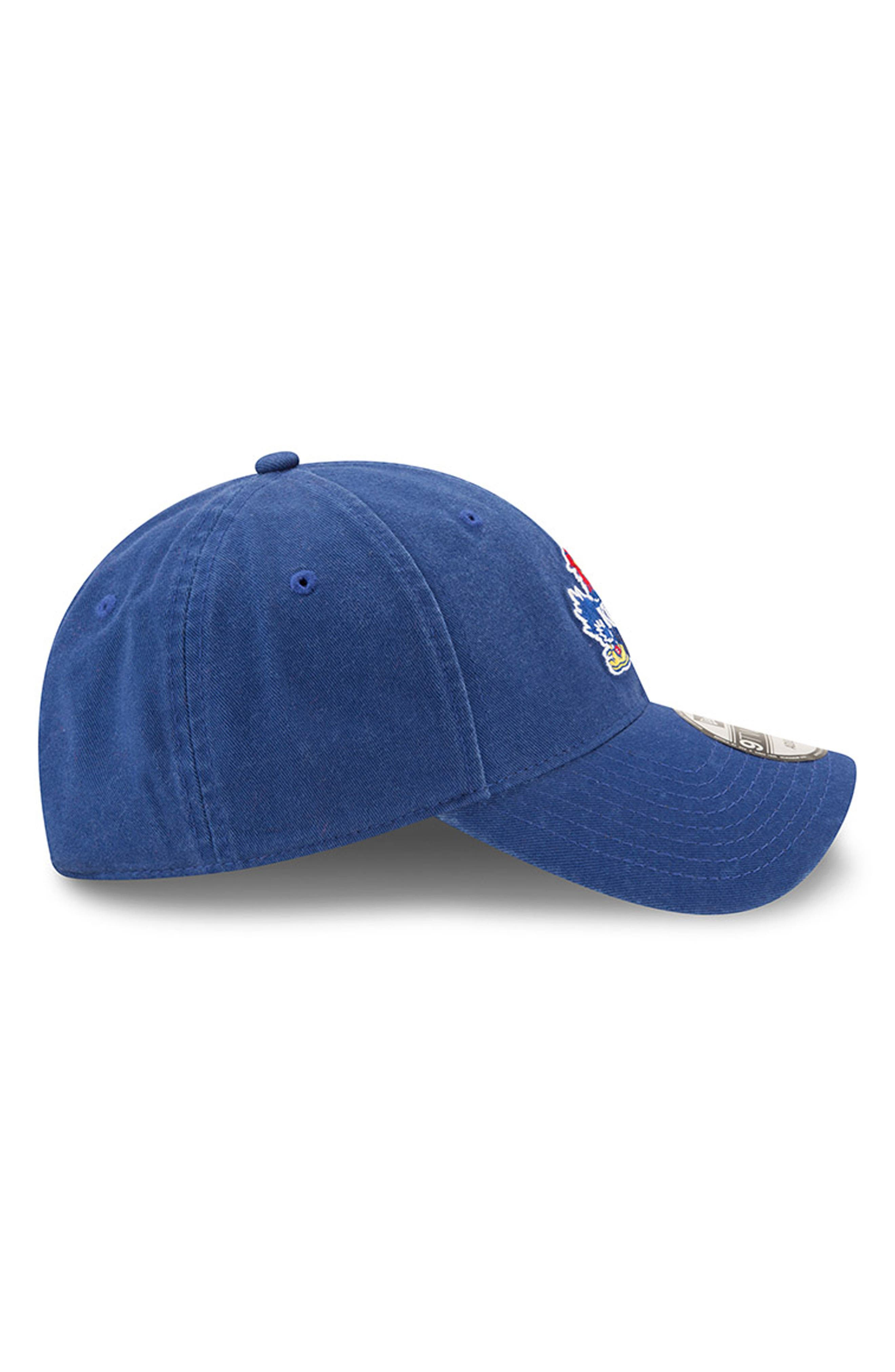 New Era Collegiate Core Classic - Kansas Jayhawks Baseball Cap,                             Alternate thumbnail 4, color,                             400