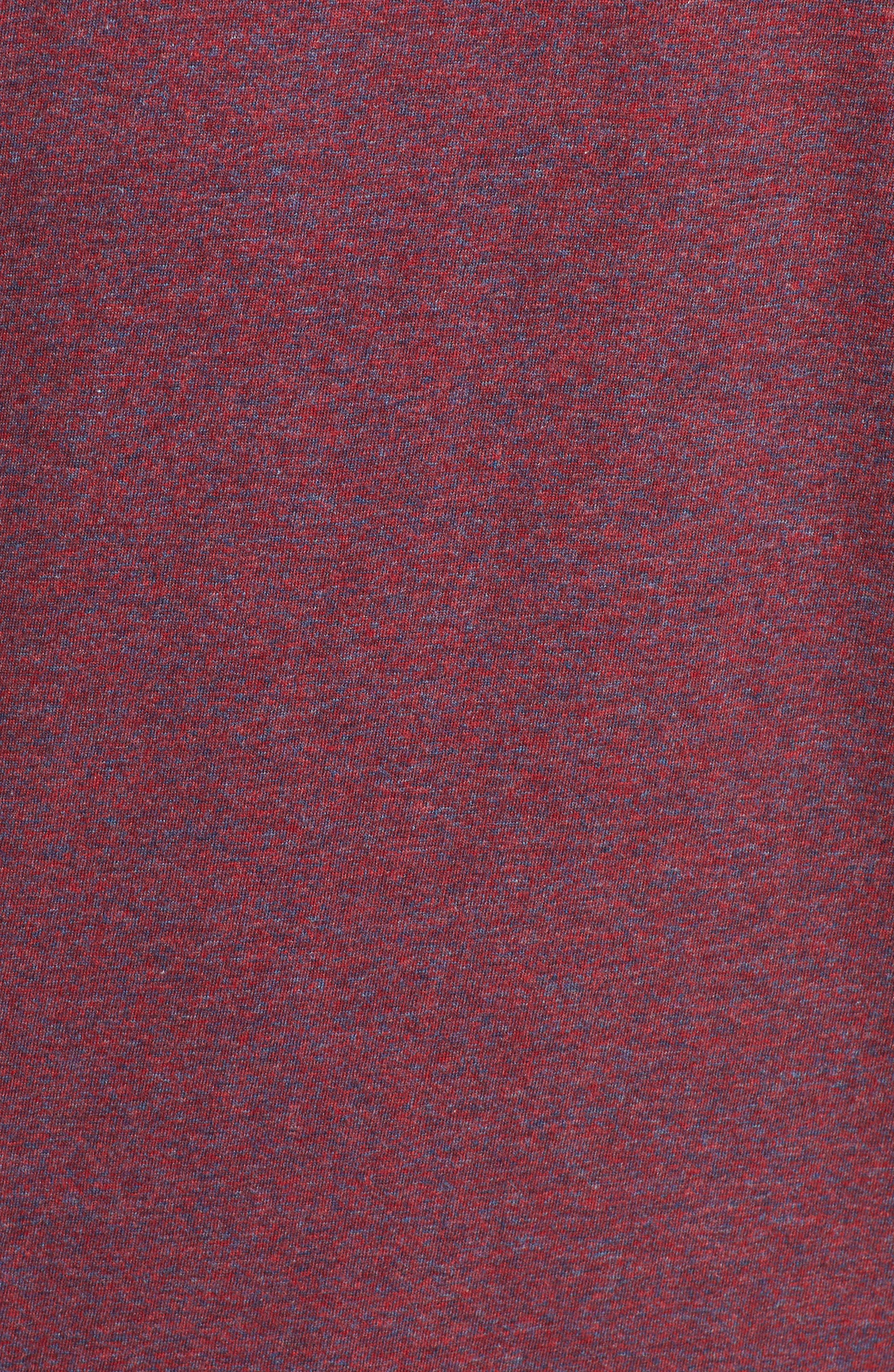 Cobb Raglan T-Shirt,                             Alternate thumbnail 5, color,                             BURGUNDY SALT PEPPER