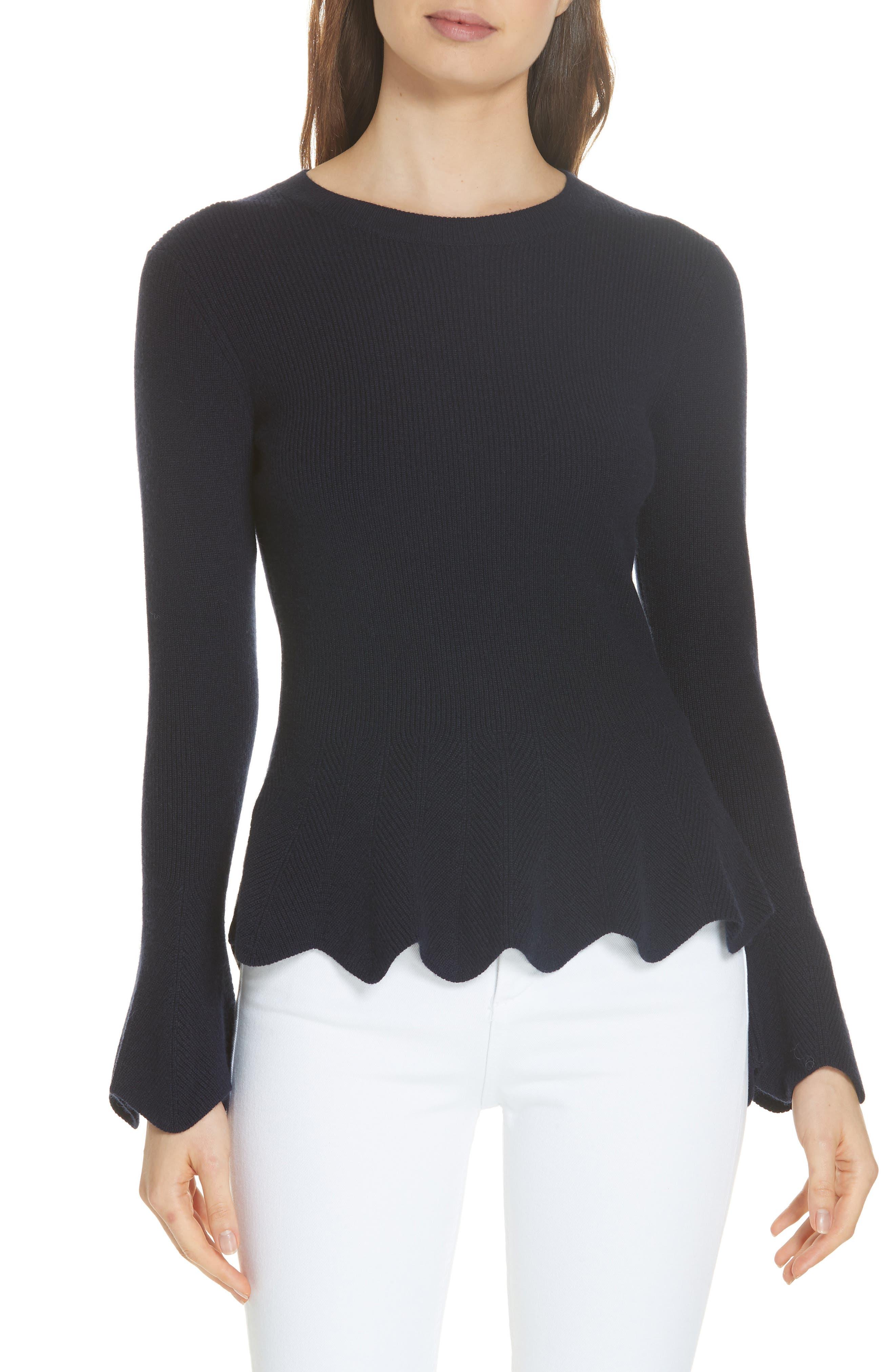 Bobbe Wool Blend Peplum Sweater,                         Main,                         color, 410