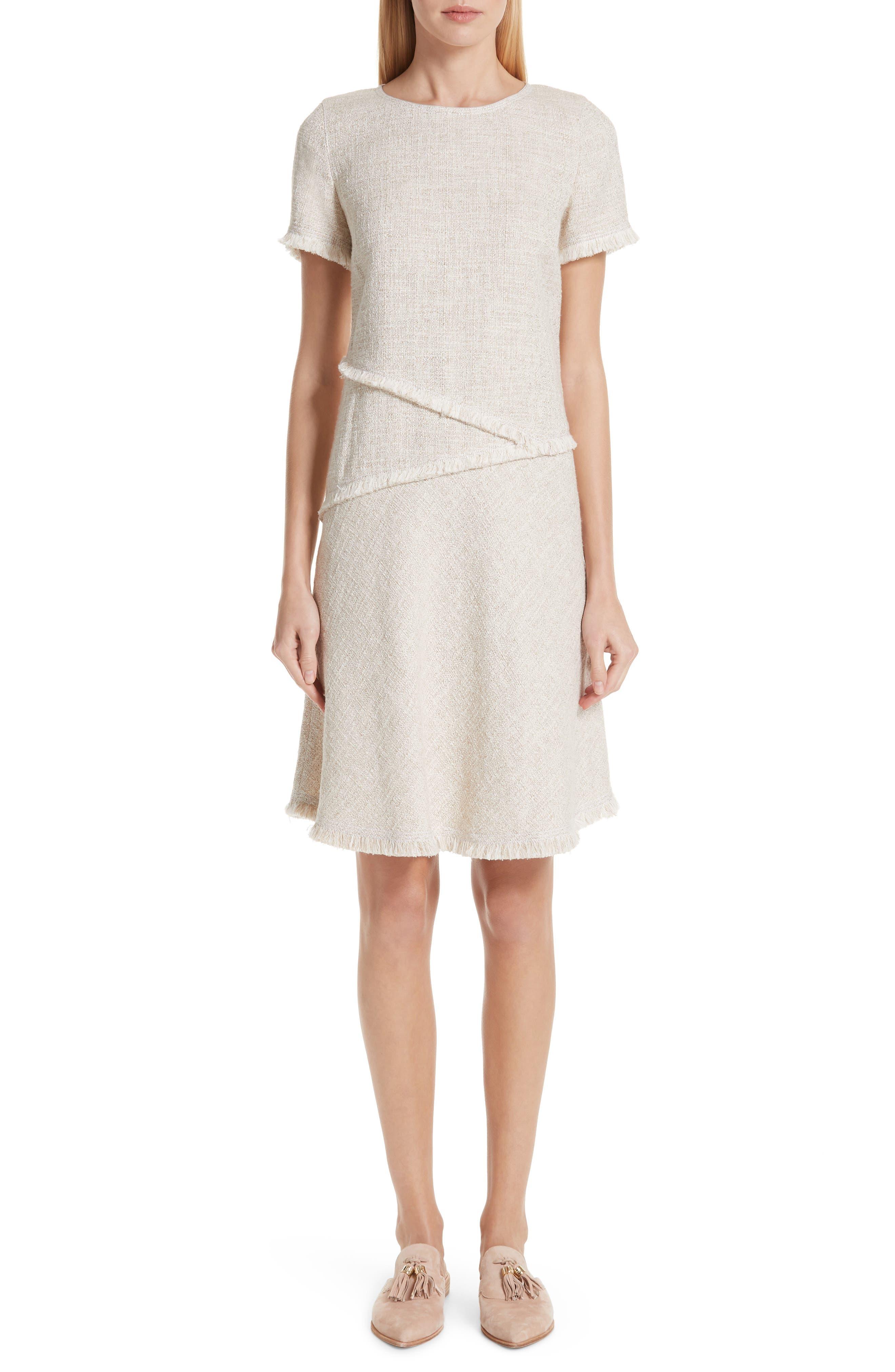 Lafayette 148 New York Greta Tweed Dress, Beige