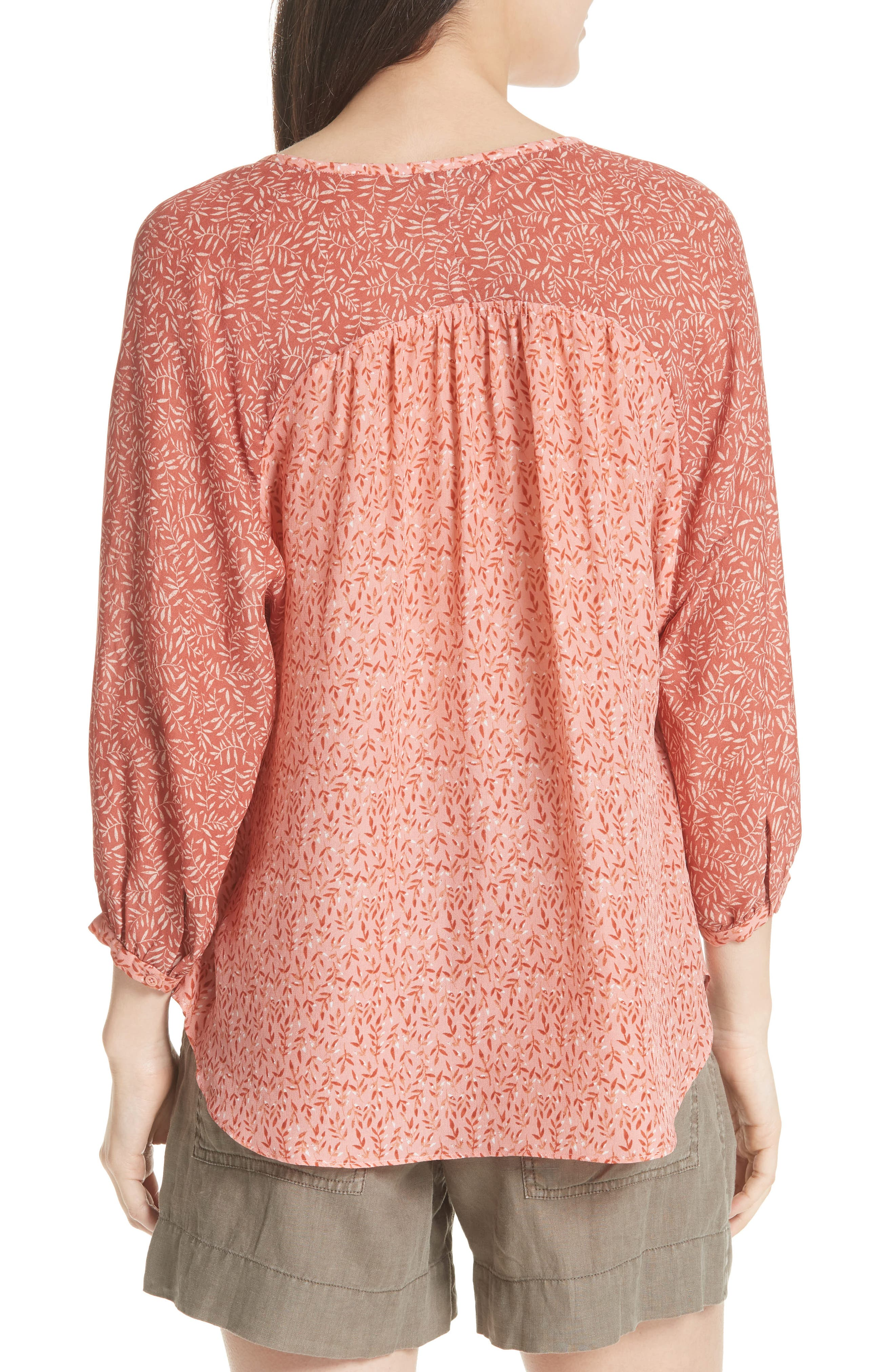 JOIE,                             Jafeth Reverse Pattern Silk Peasant Top,                             Alternate thumbnail 2, color,                             609