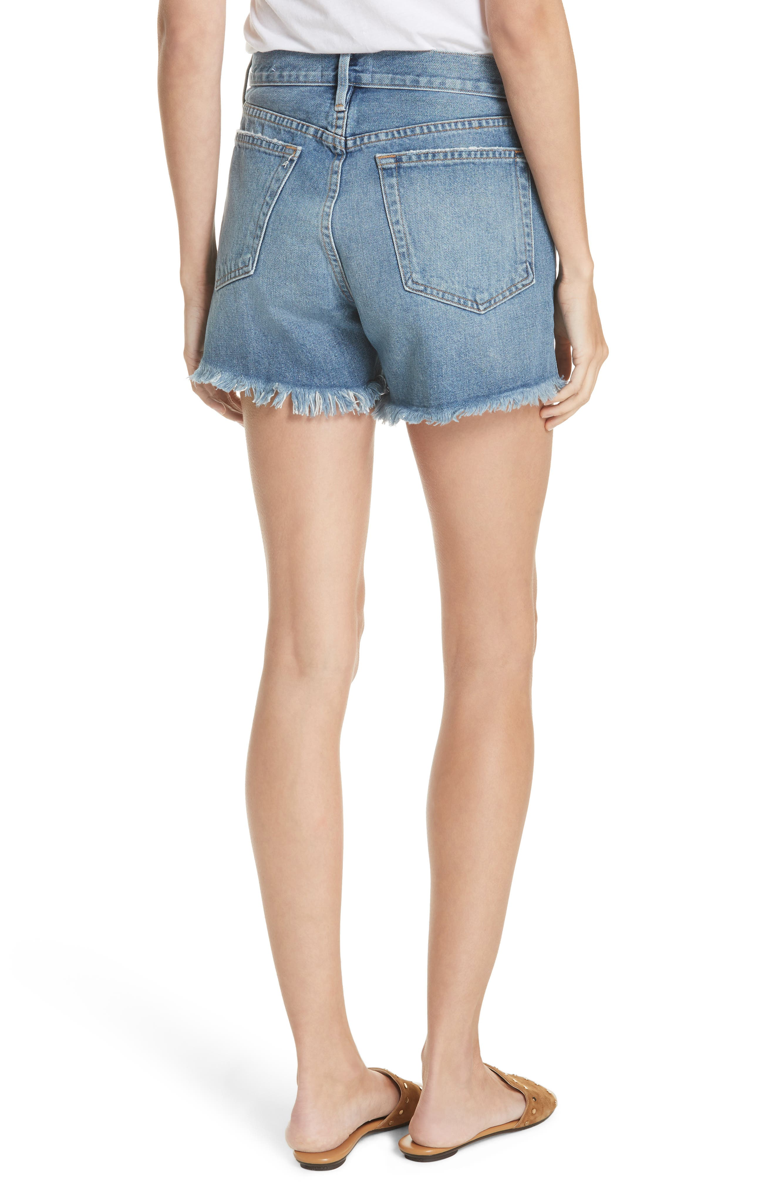 Le Stevie Denim Shorts,                             Alternate thumbnail 2, color,                             401