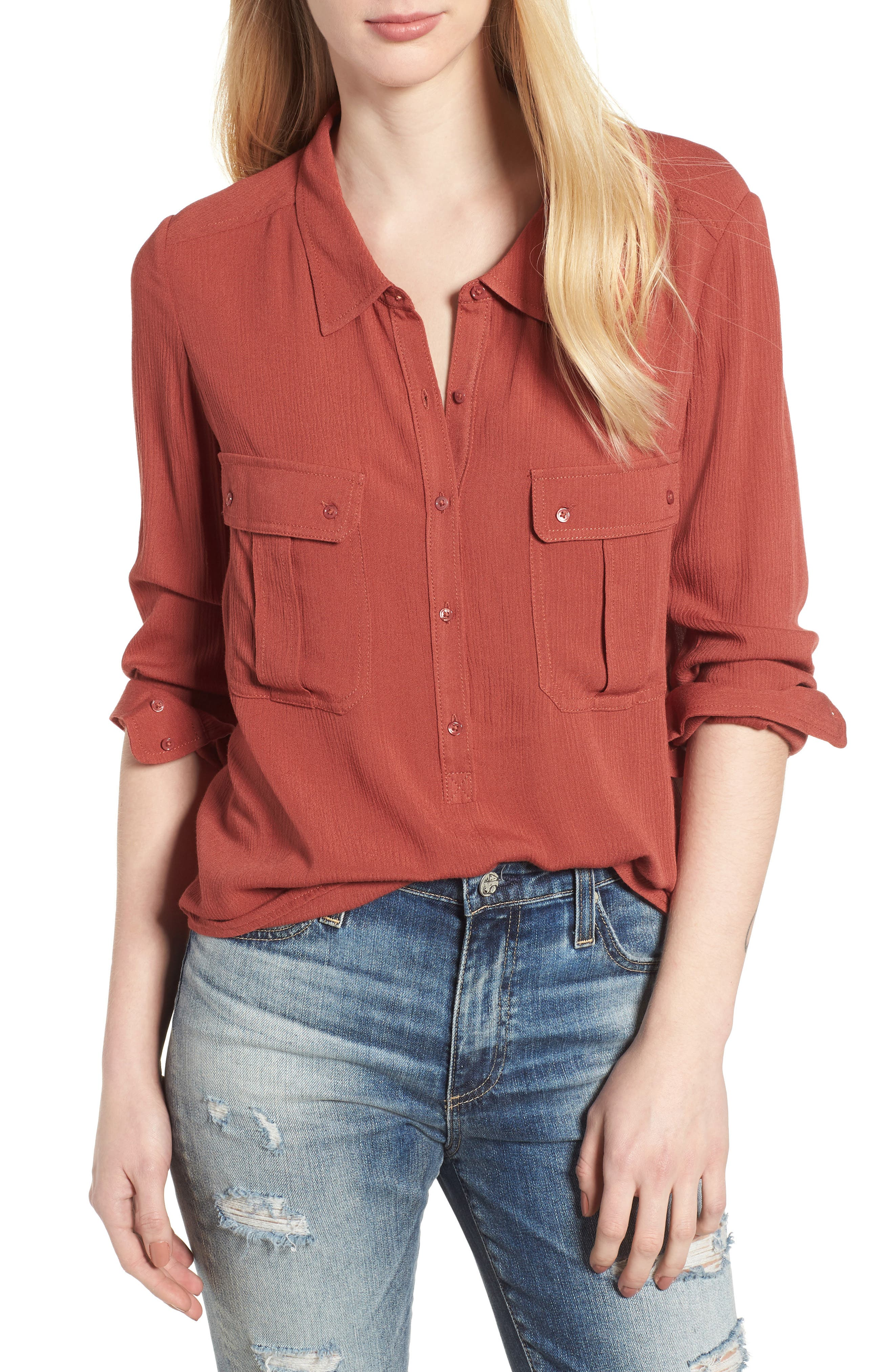AG,                             Nevada Cotton Henley Shirt,                             Main thumbnail 1, color,                             600