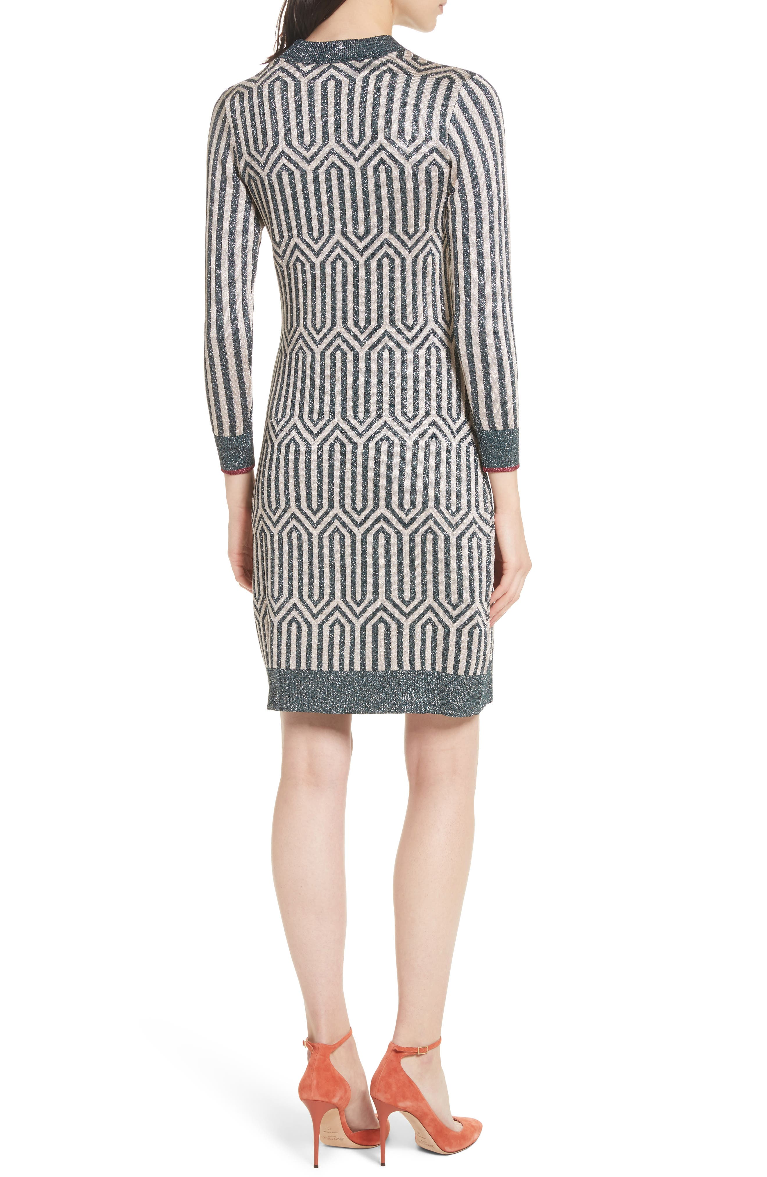 Metallic Knit Dress,                             Alternate thumbnail 2, color,                             440
