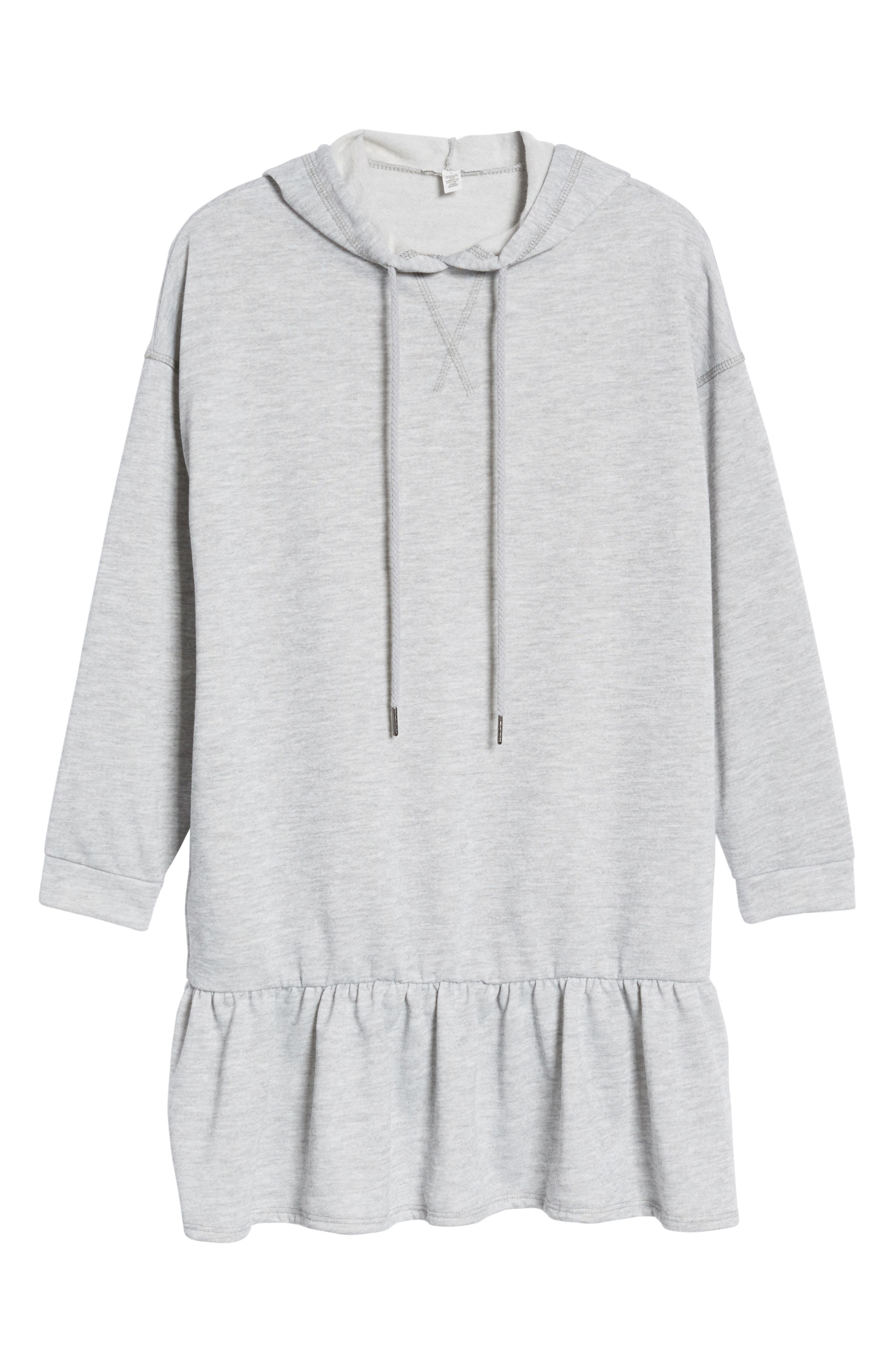 Drop Waist Sweatshirt Dress,                             Alternate thumbnail 6, color,                             030