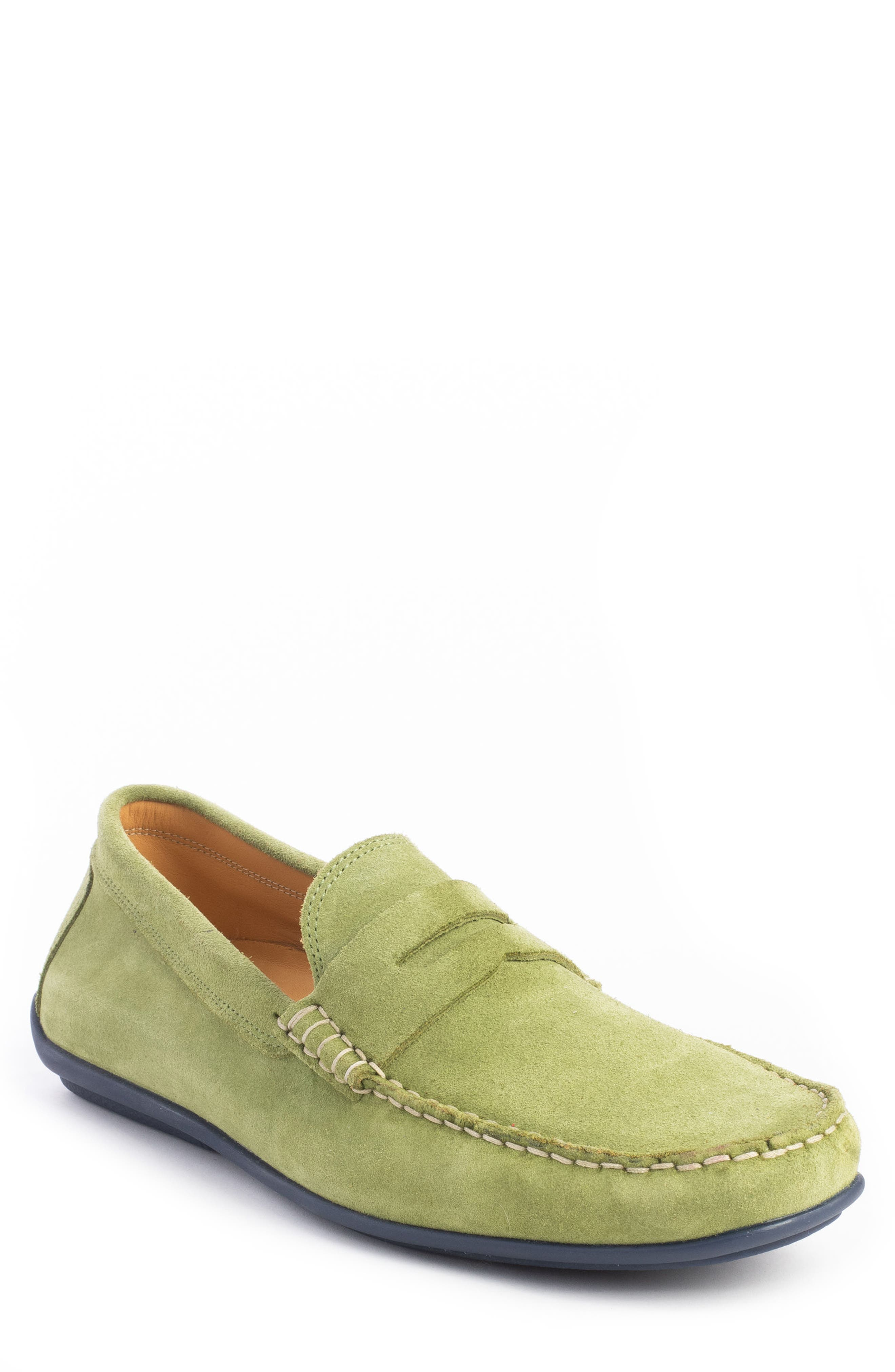 'Parkers' Penny Loafer,                             Main thumbnail 1, color,                             SPRING GREEN