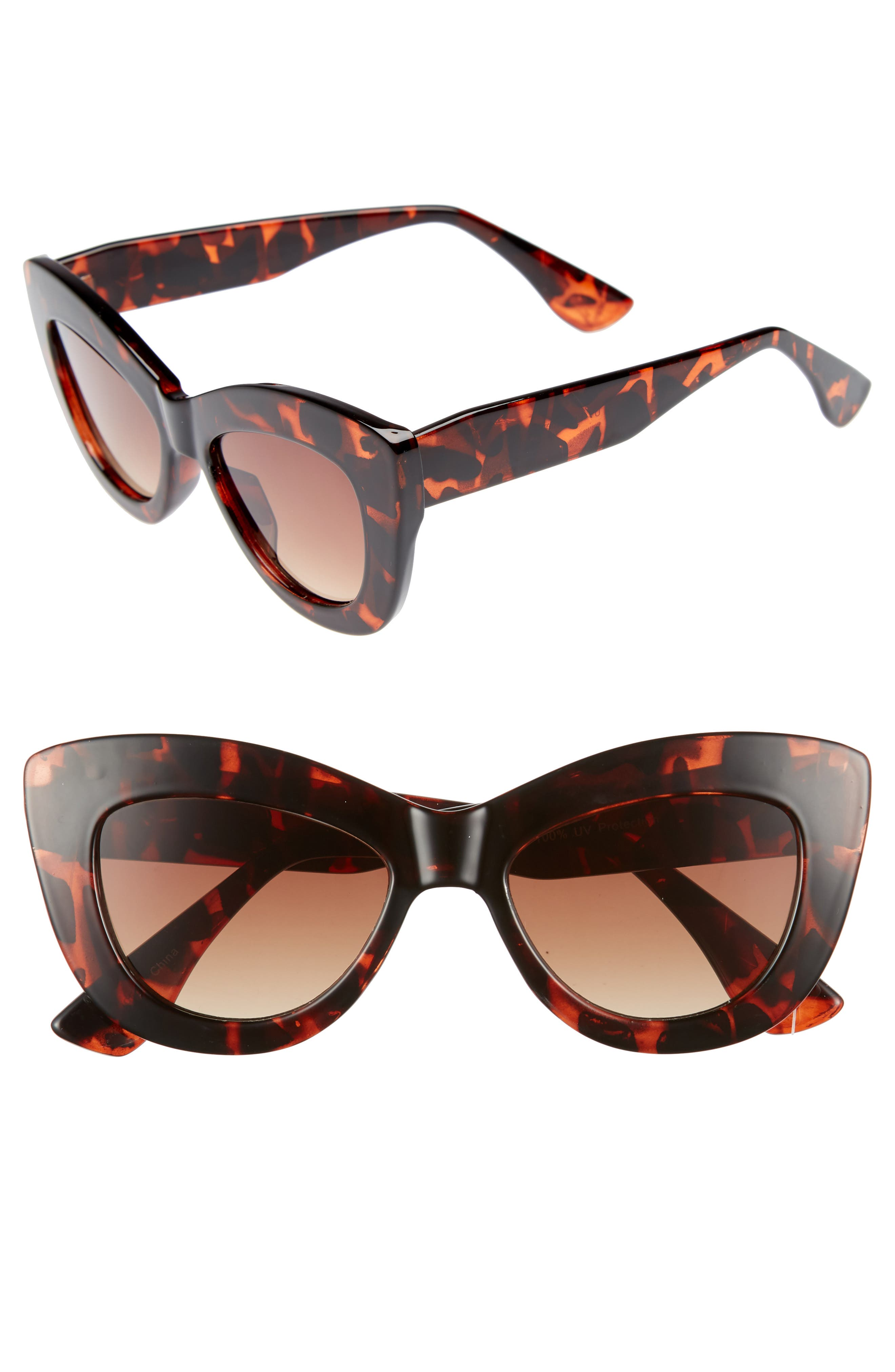65mm Cat Eye Sunglasses,                             Main thumbnail 1, color,                             200