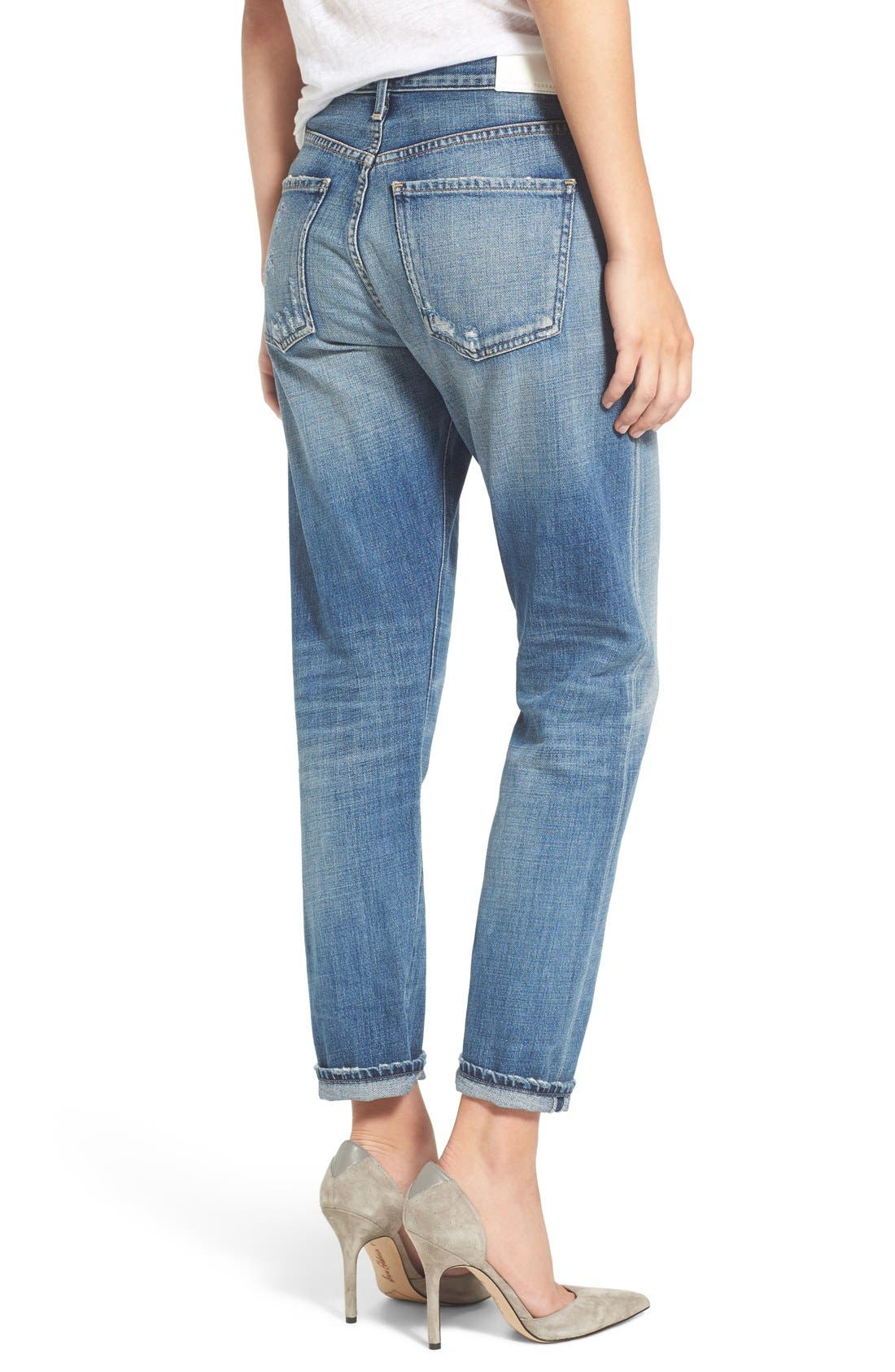 Liya High Waist Slim Boyfriend Jeans,                             Alternate thumbnail 2, color,                             426