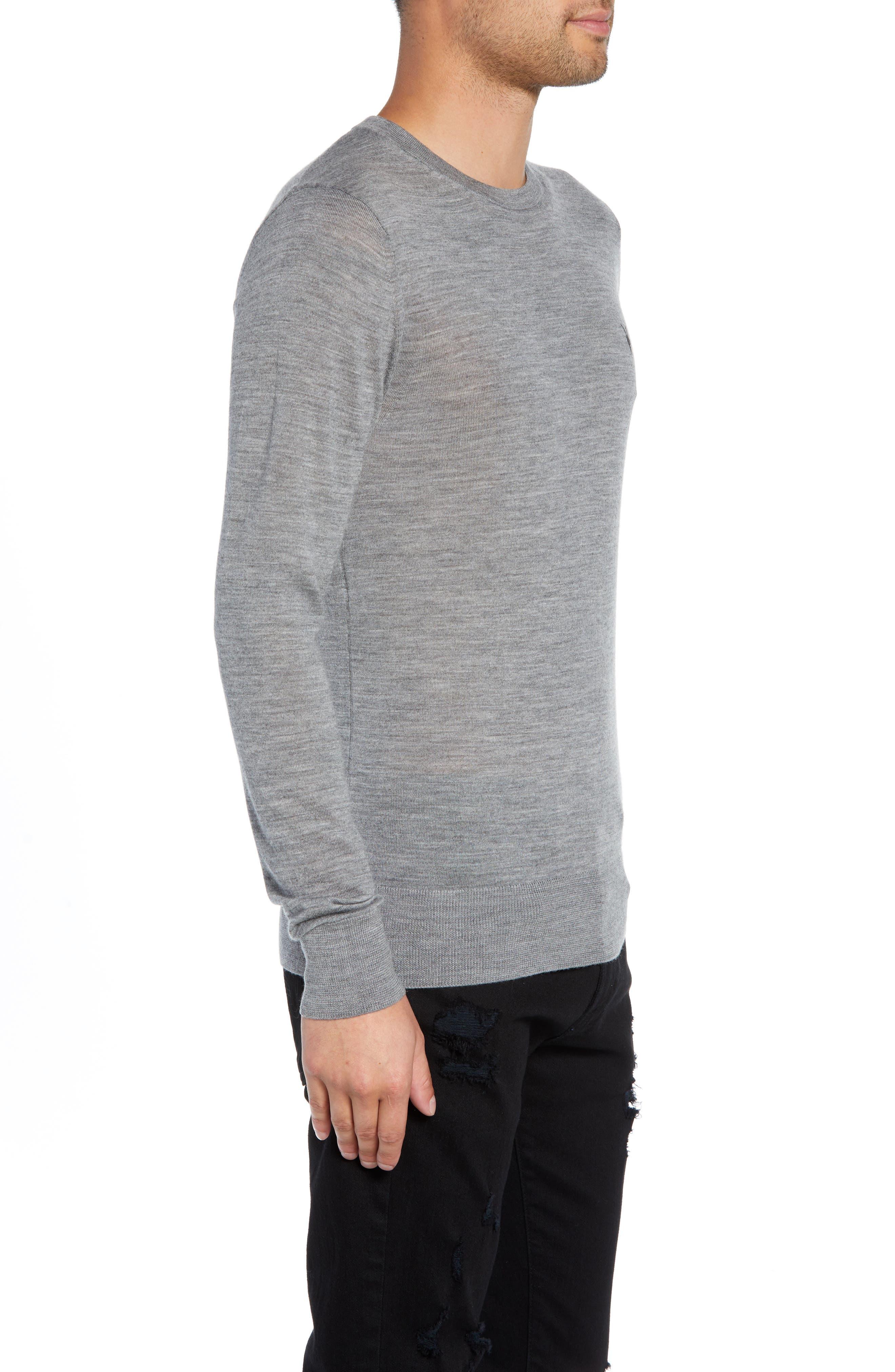 Mode Slim Fit Merino Wool Sweater,                             Alternate thumbnail 17, color,