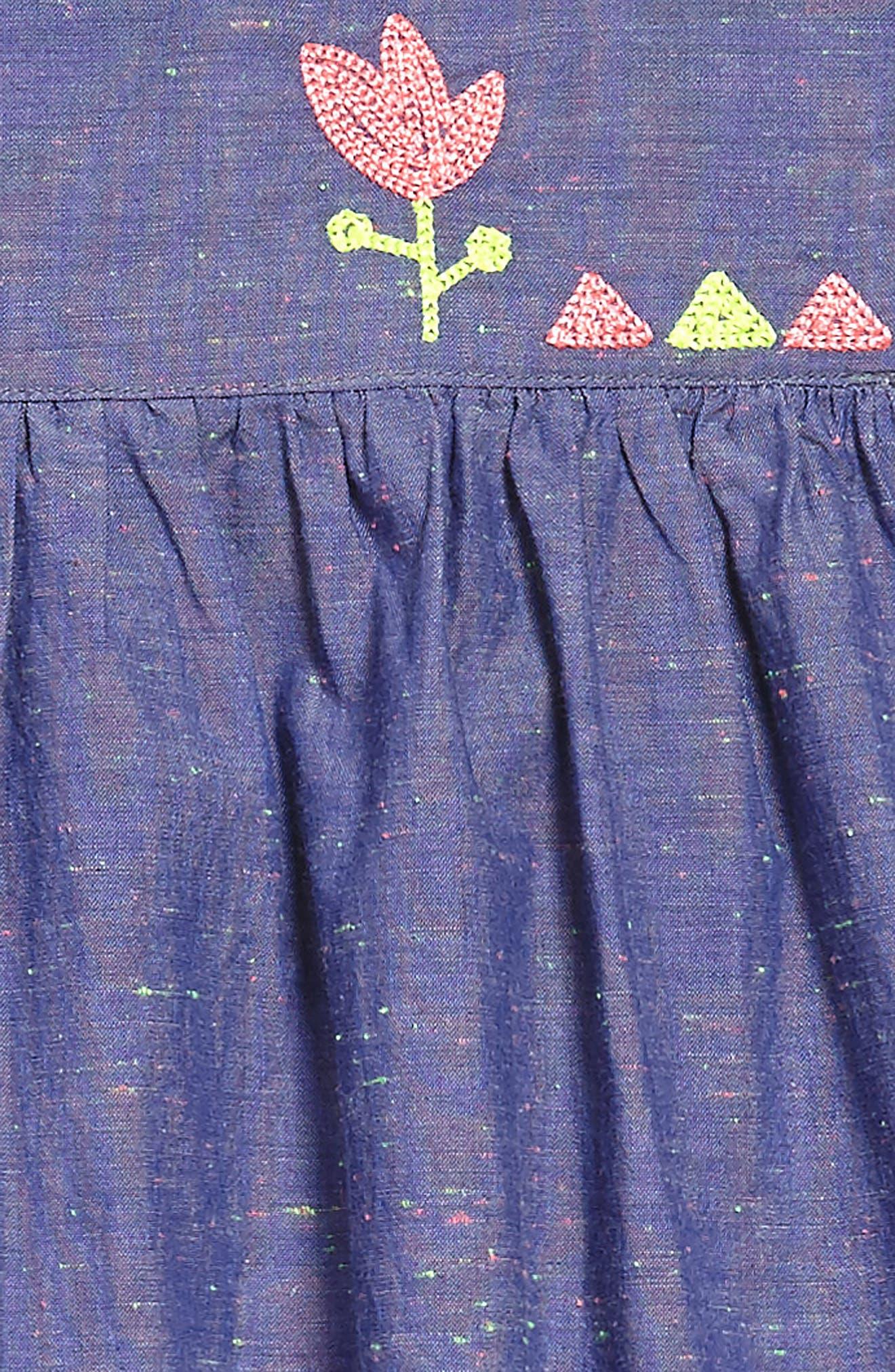 Nep Chambray Dress,                             Alternate thumbnail 3, color,