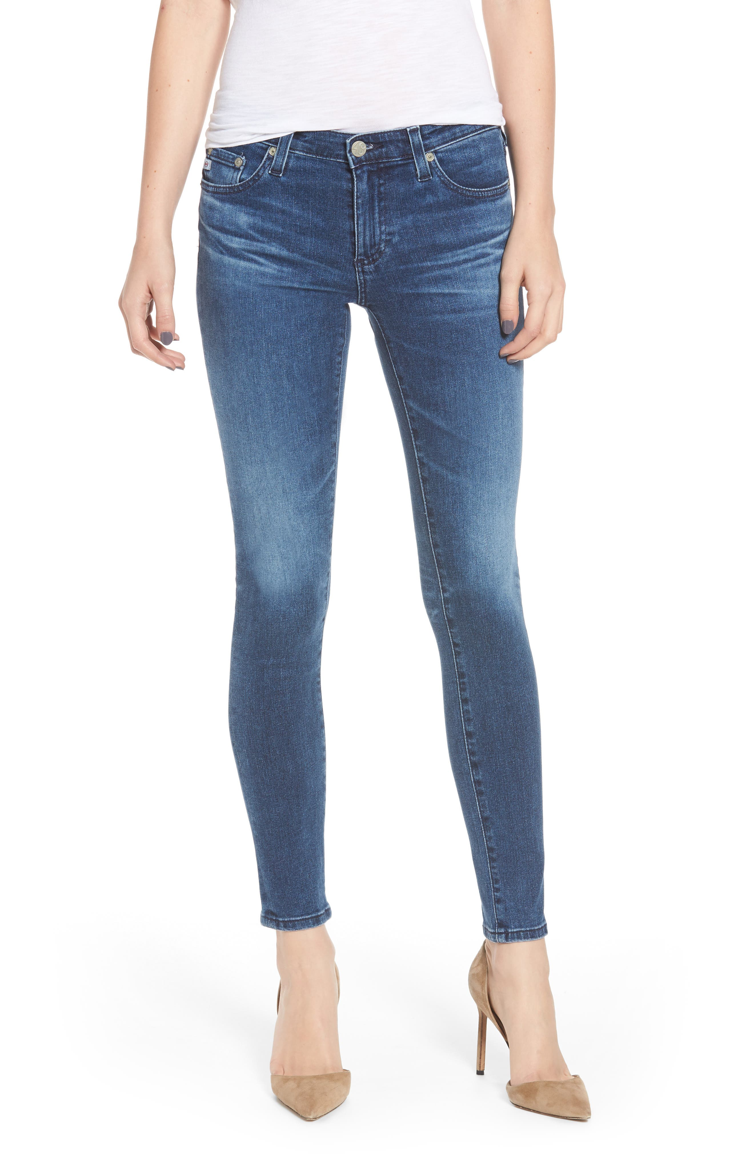 AG The Legging Ankle Super Skinny Jeans, Main, color, 401