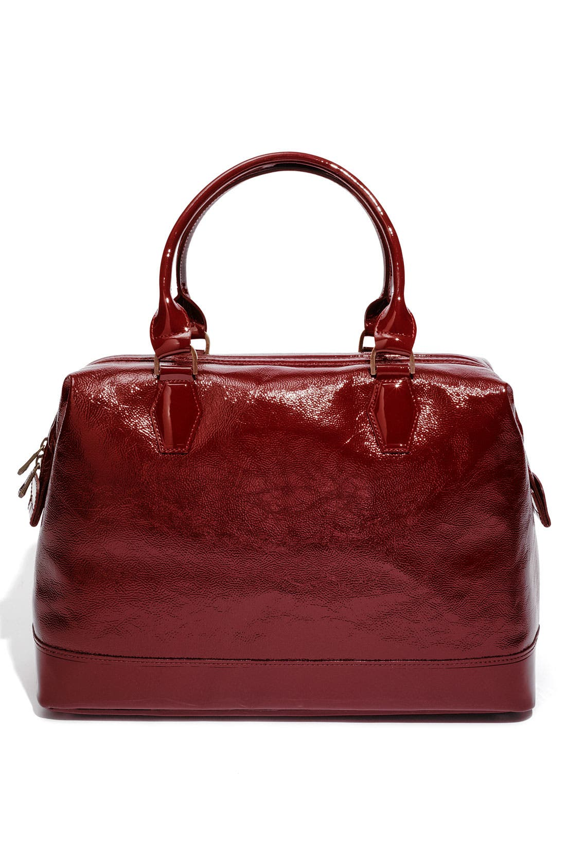 LONGCHAMP,                             'Legende Verni' Patent Calfskin Satchel,                             Alternate thumbnail 3, color,                             601