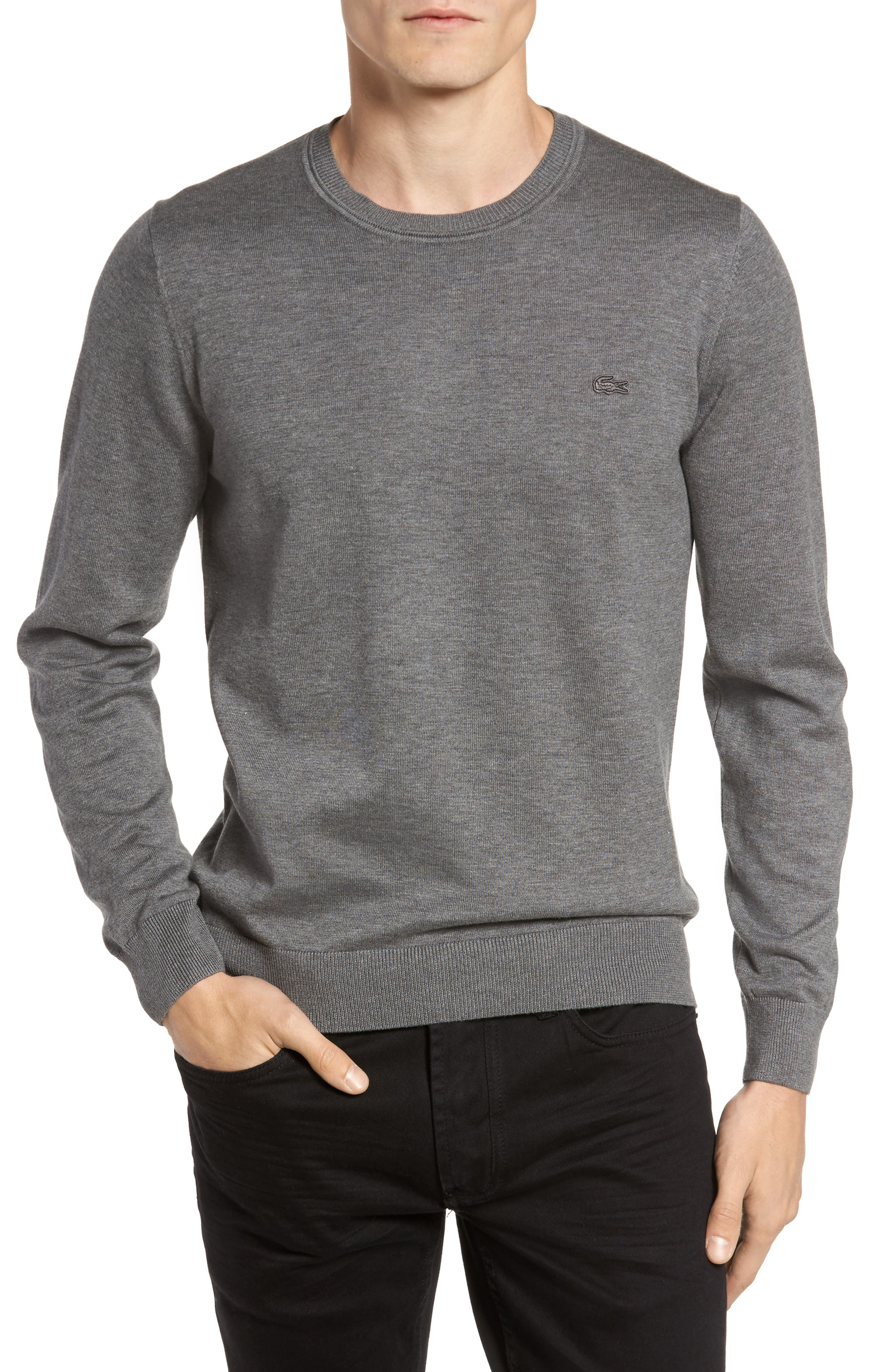 Jersey Knit Crewneck Sweater,                             Main thumbnail 1, color,                             032