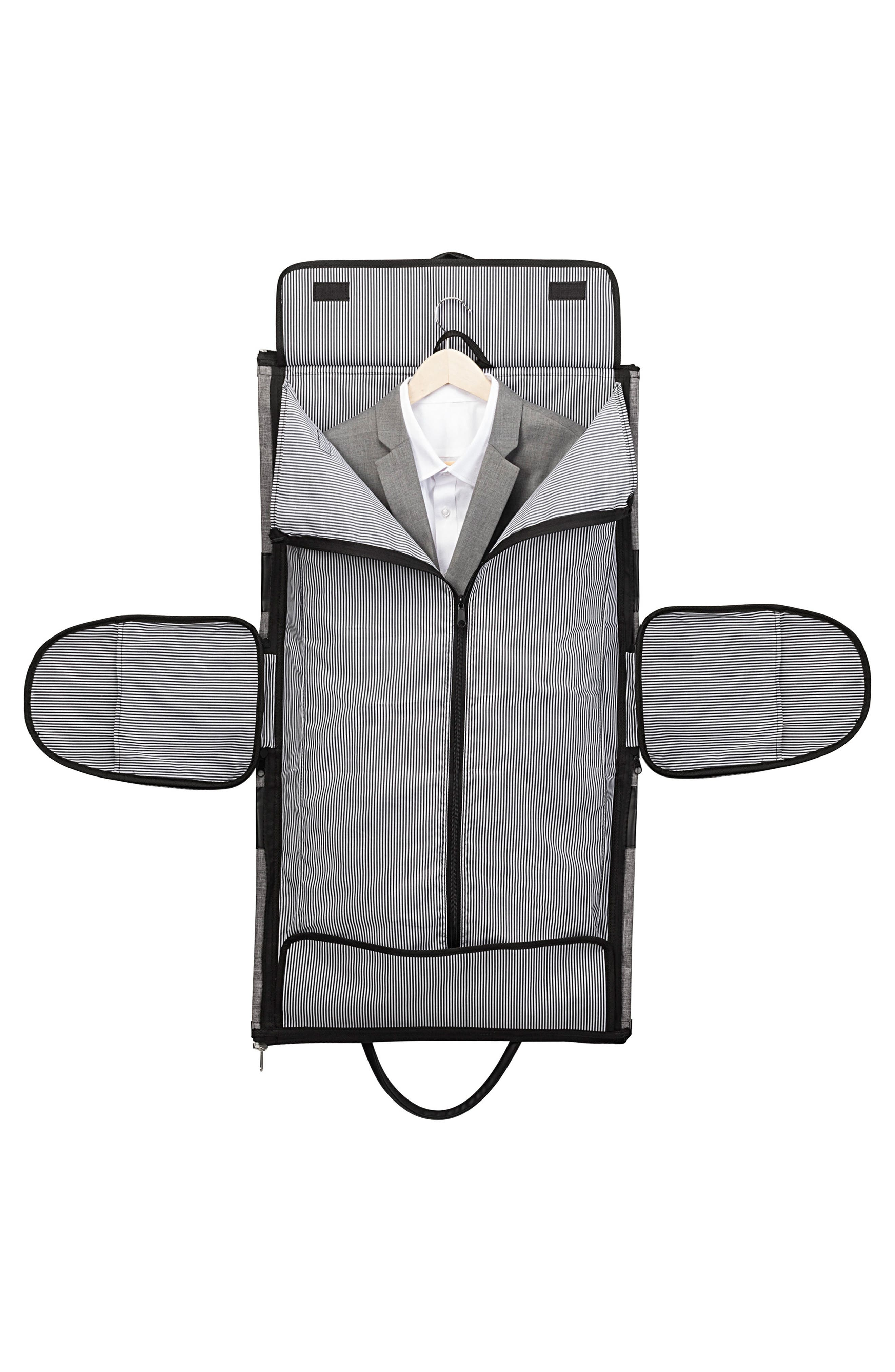Monogram Duffel/Garment Bag,                             Alternate thumbnail 6, color,                             GREY A