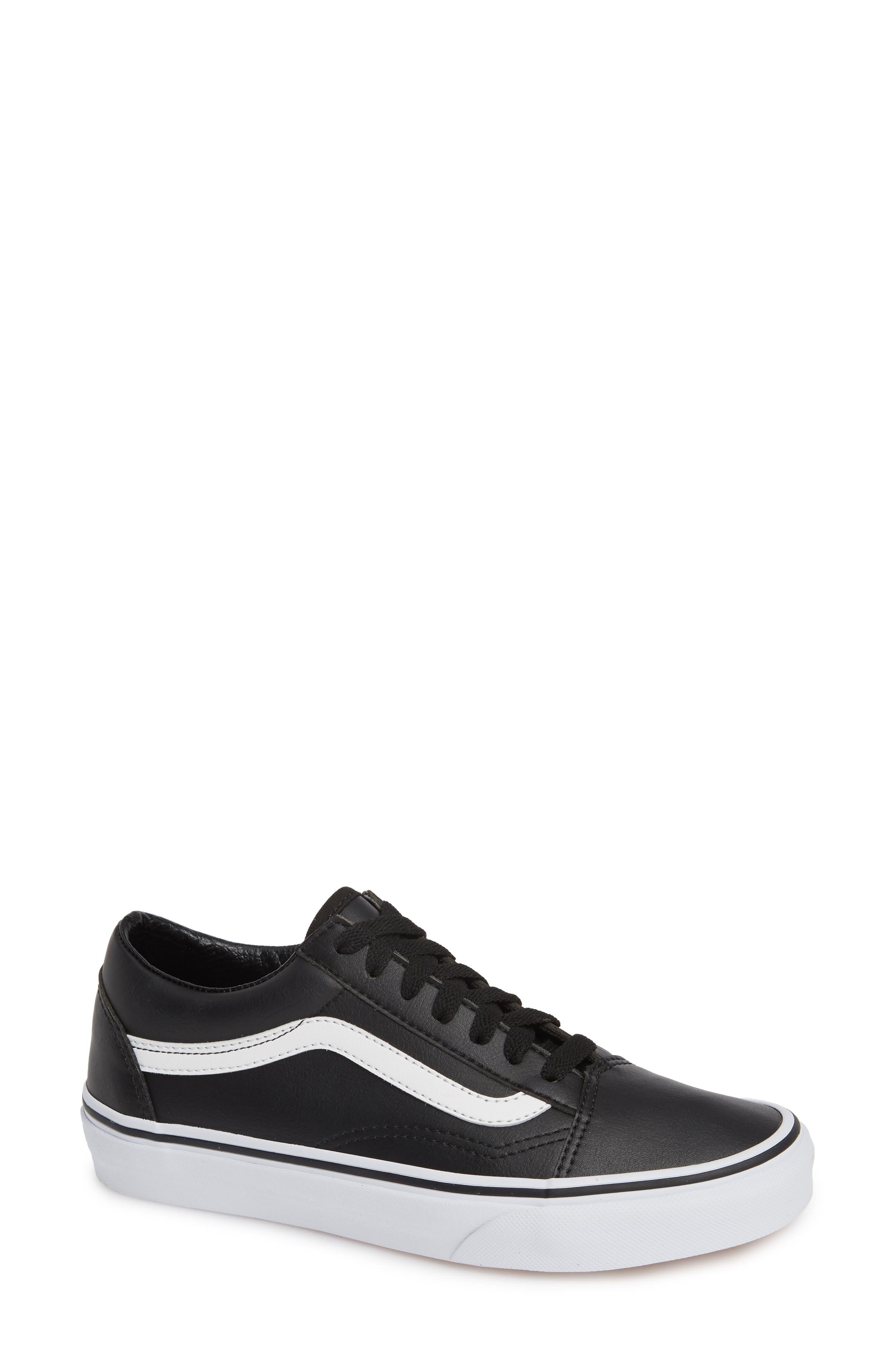 Old Skool Tumble Sneaker,                             Main thumbnail 1, color,                             BLACK/ TRUE WHITE